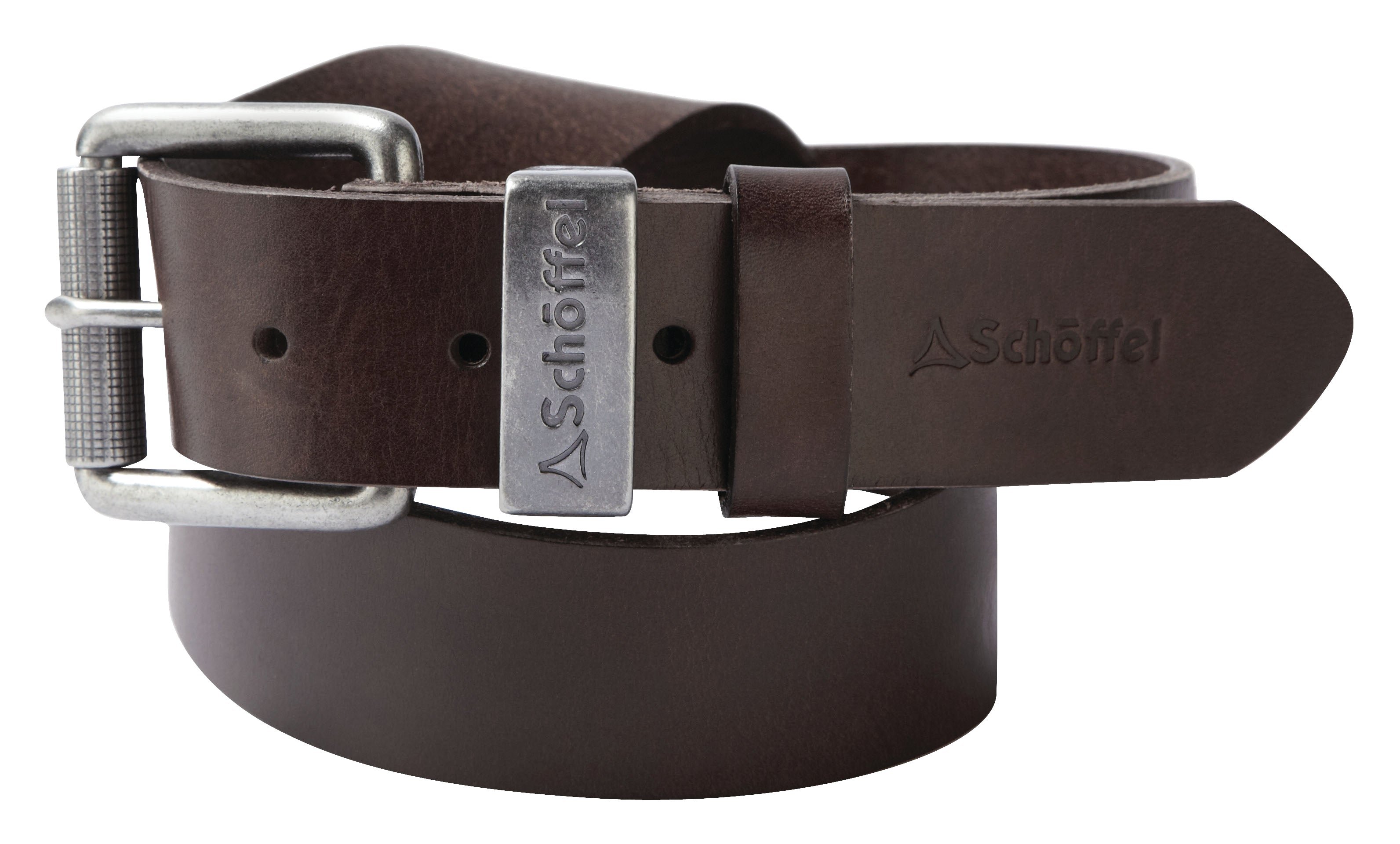 Schoffel Leather Belt for Men in Dark Brown