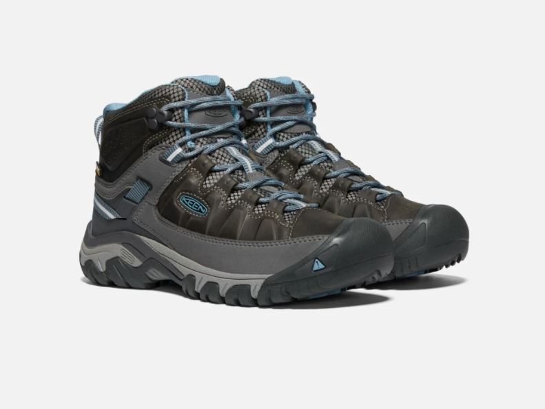 Keen Targhee III Mid Waterproof Boot for Ladies in Magnet / Atlantic Blue