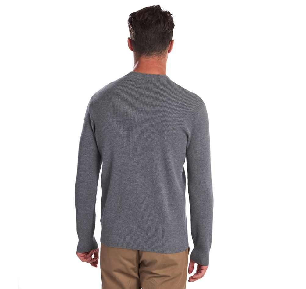 Barbour Fjord Crew Neck Sweater for Men in Grey