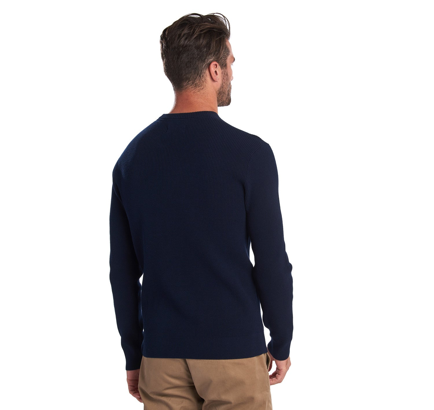 Barbour Fjord Crew Neck Sweater for Men in Navy