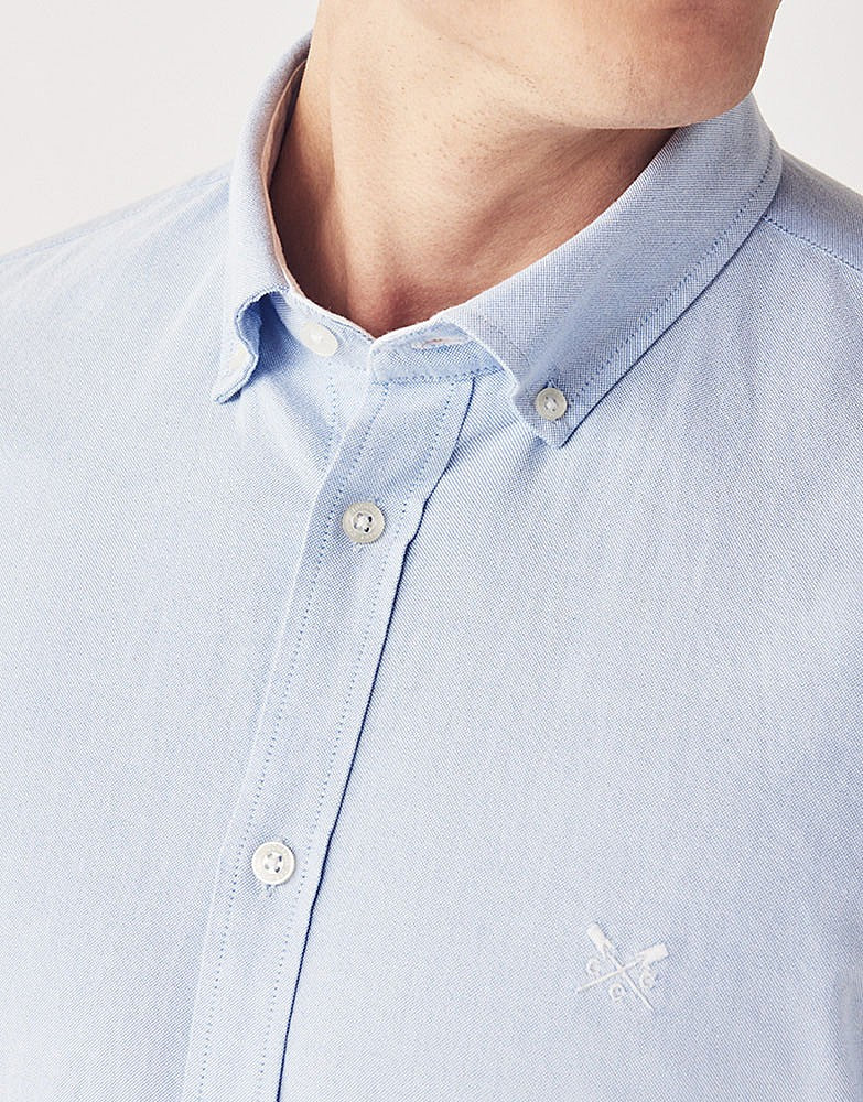 Crew Clothing Slim Oxford Shirt for Men in Sky