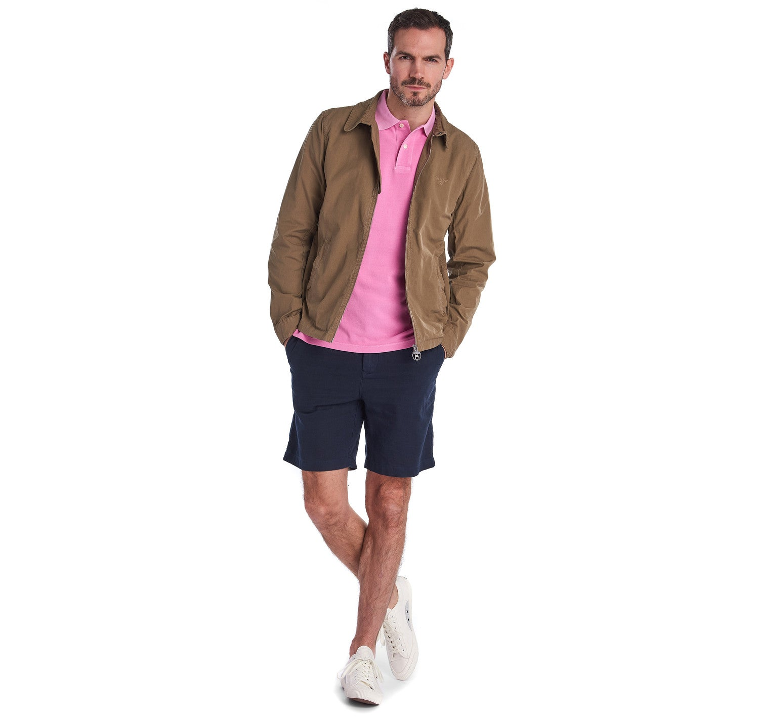 Barbour Washed Sports Polo for Men in Mauve