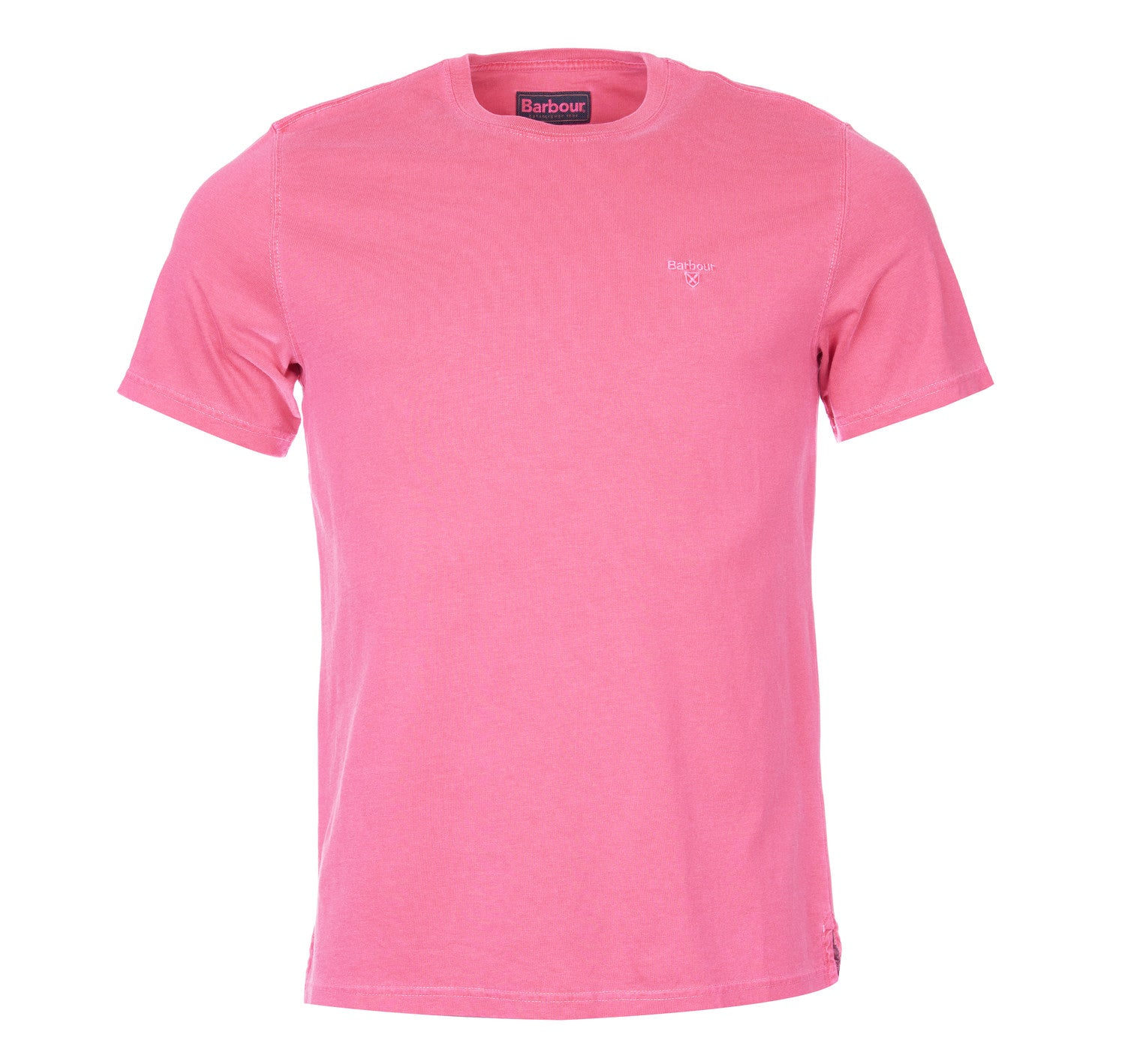 Barbour Garment Dyed Tee for Men in Fuchsia