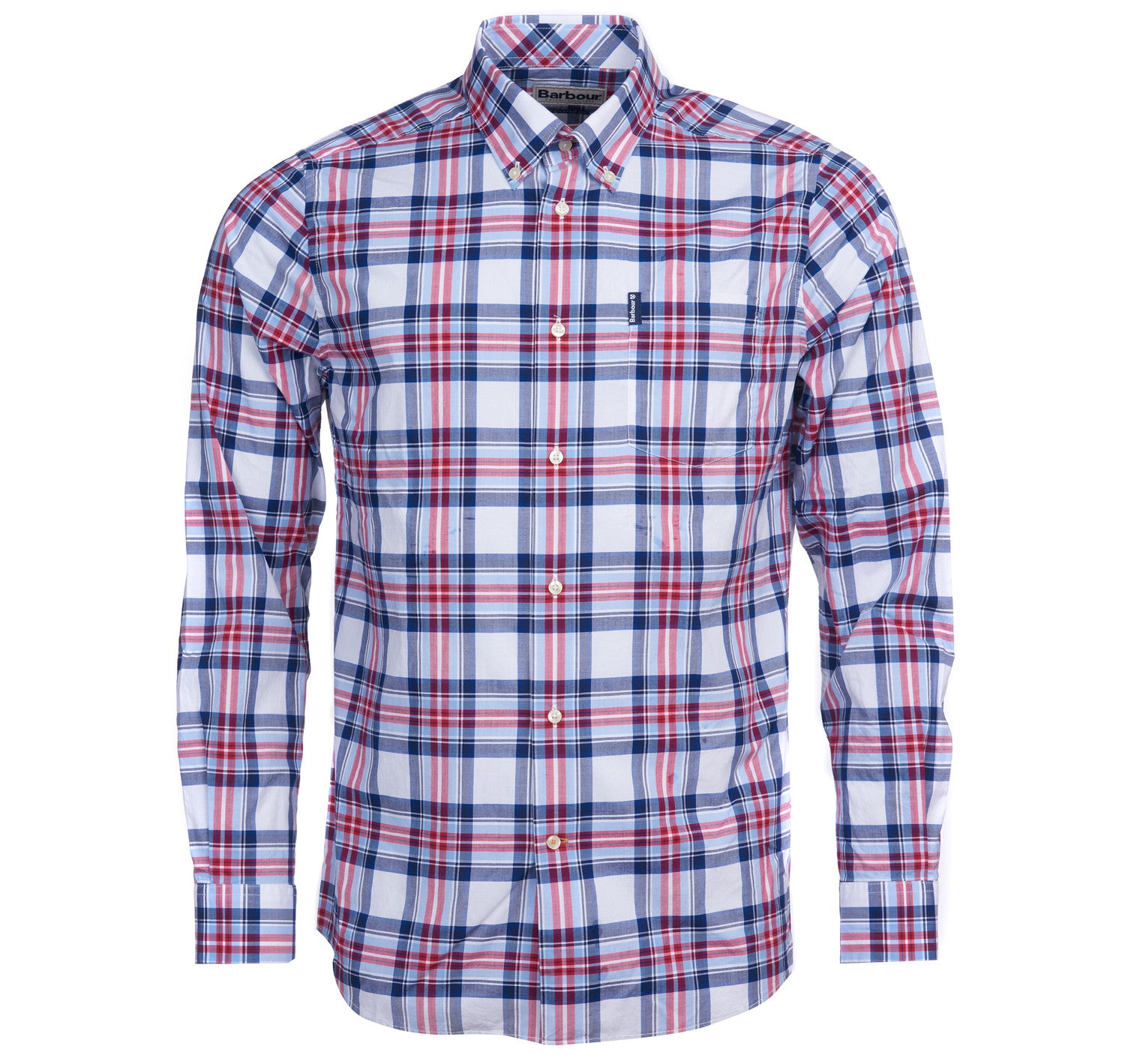 Barbour Highland Check 24 Tailored Fit Shirt for Men in Sky