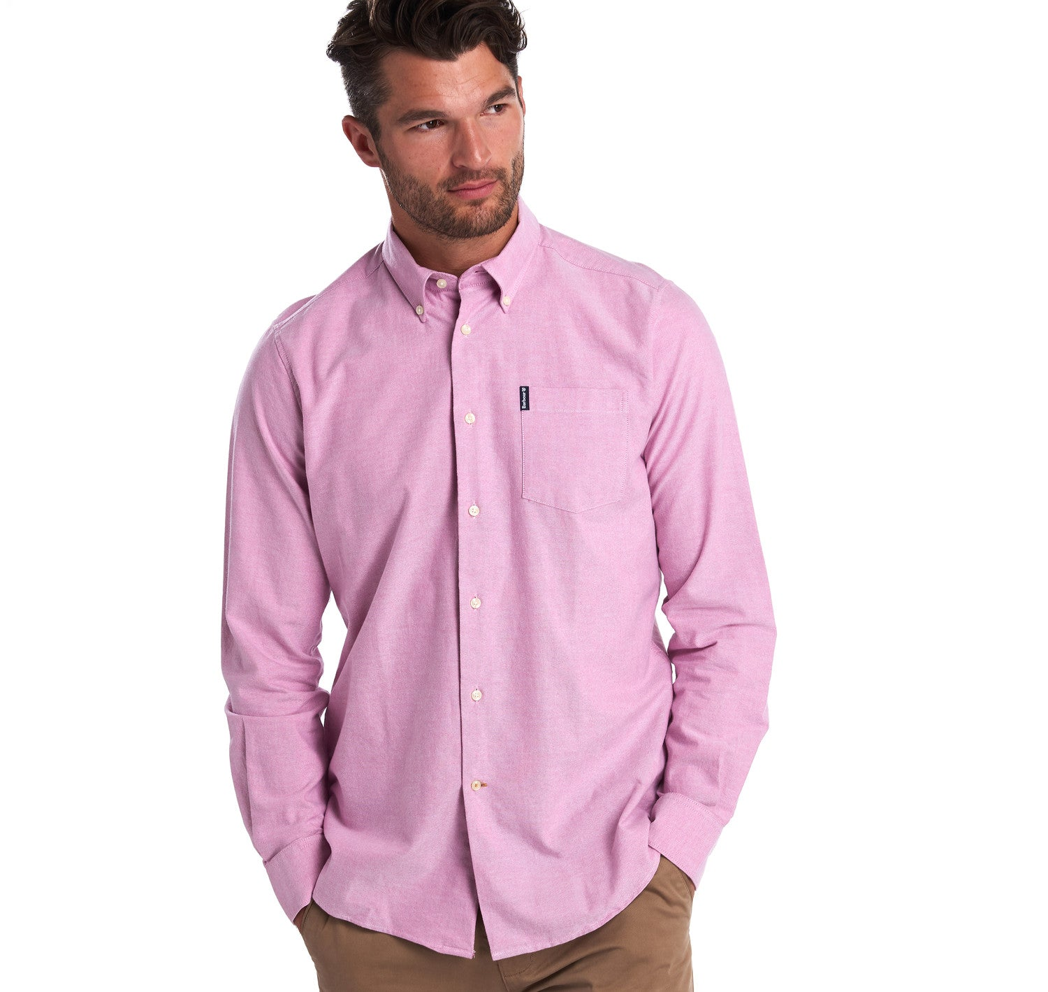 Barbour Oxford 8 Tailored Fit Shirt for Men in Raspberry