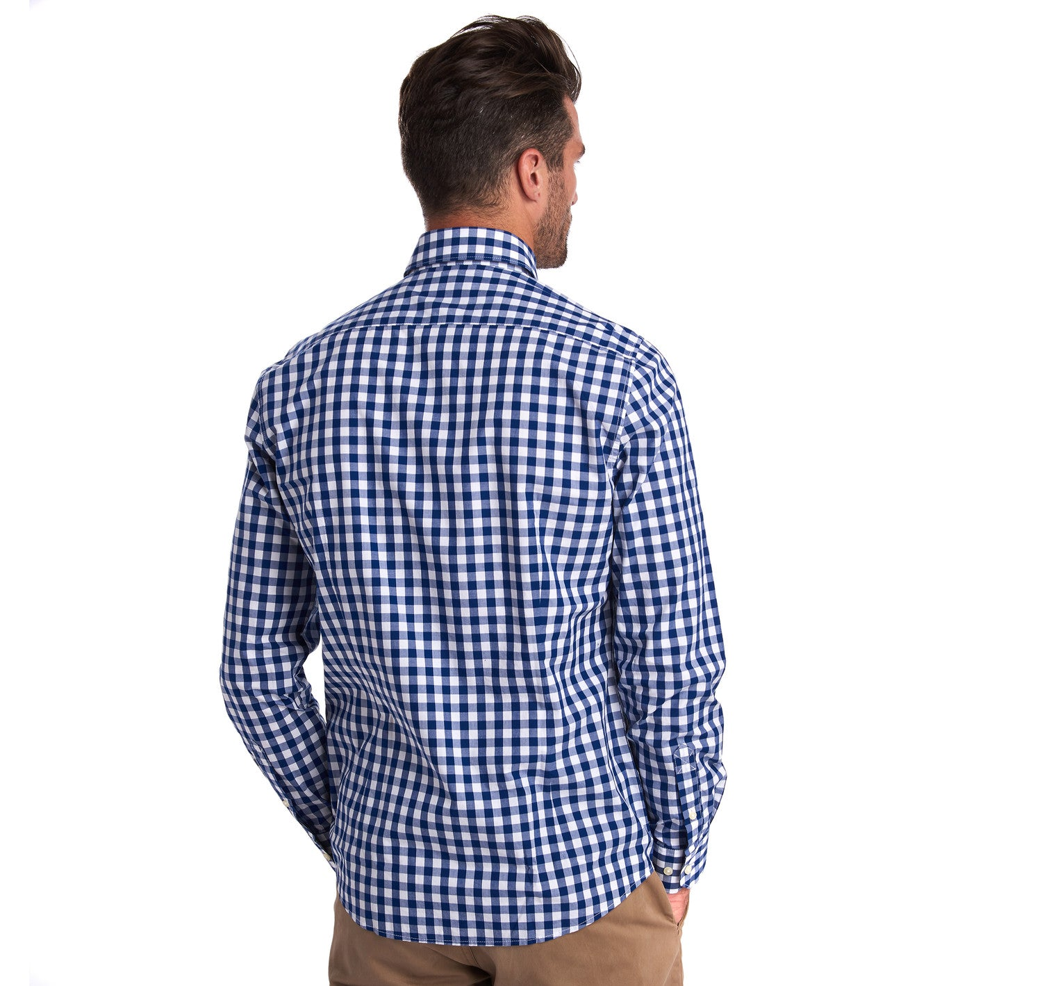 Barbour Gingham 18 Tailored Fit Shirt for Men in Inky Blue
