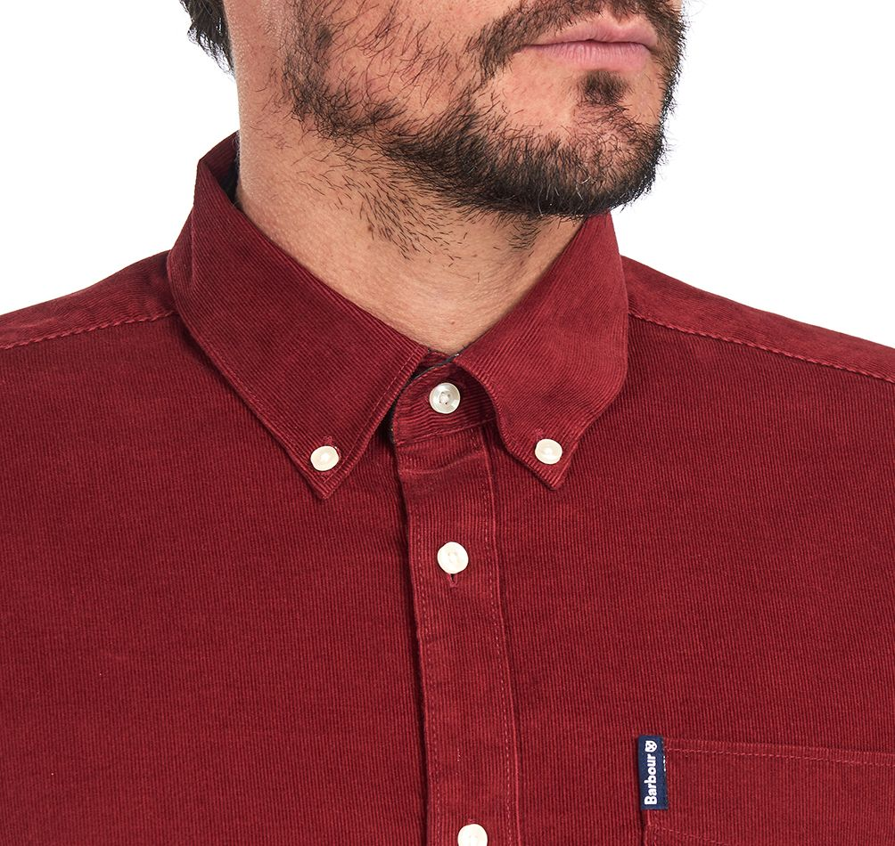 Barbour Cord 2 Tailored Shirt for Men in Rust