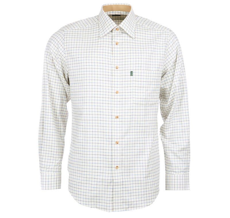 Barbour Field Tattersall Shirt for Men in Navy