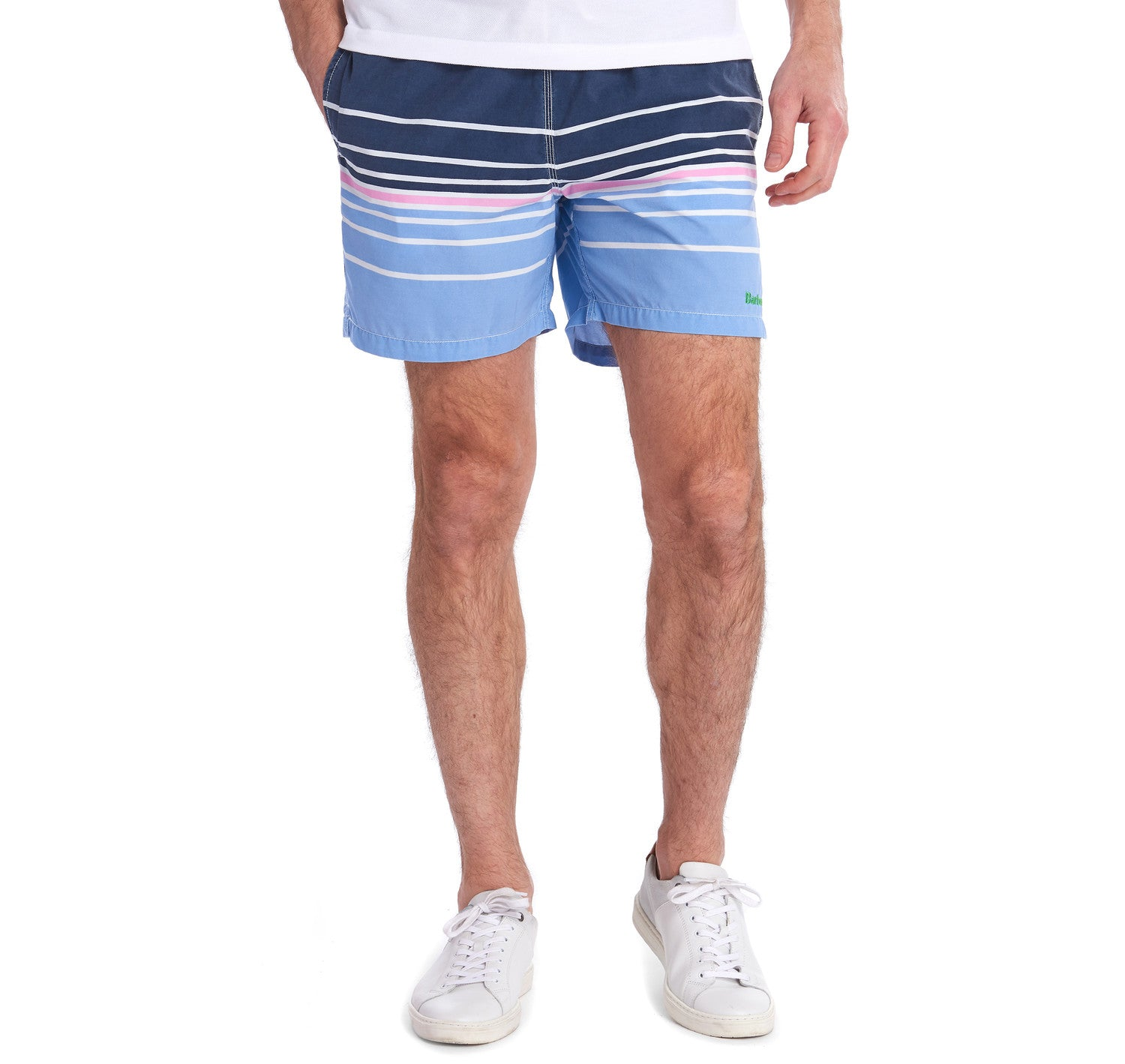 Barbour Gradient Swim Shorts for Men in Navy