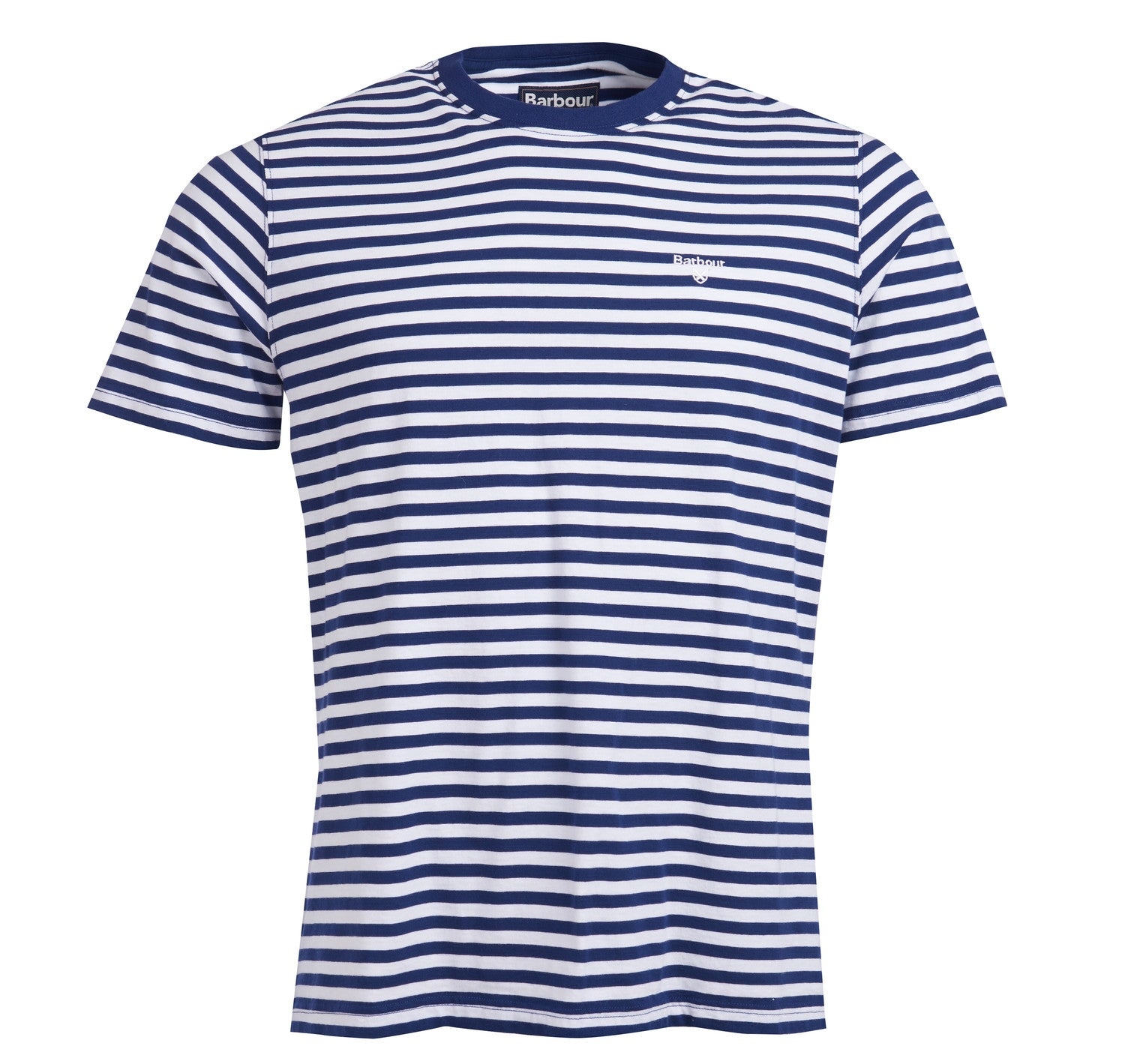 Barbour Delamere Stripe Tee for Men in Inky Blue
