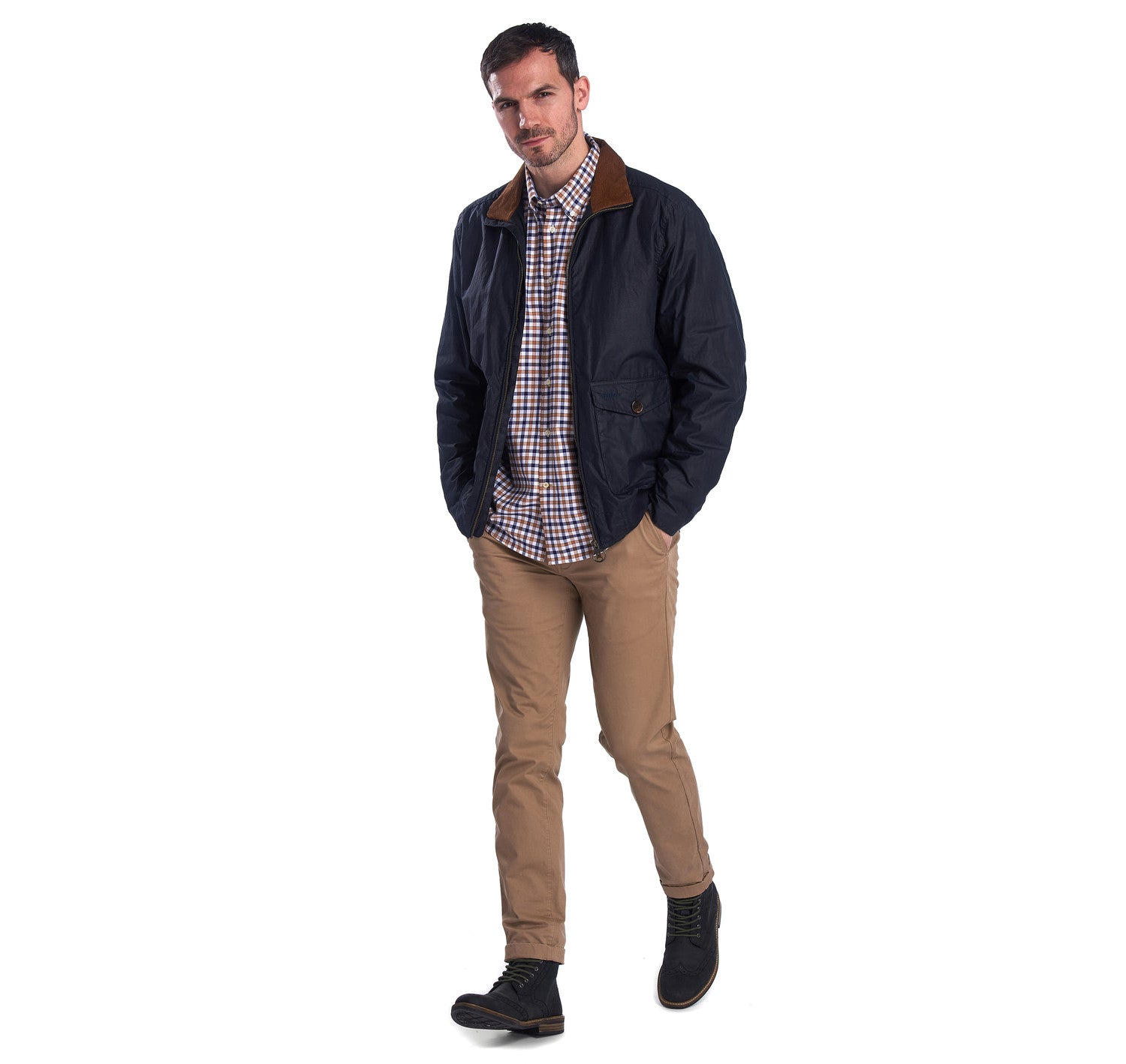 Barbour Clapton Wax Jacket for Men in Royal Navy