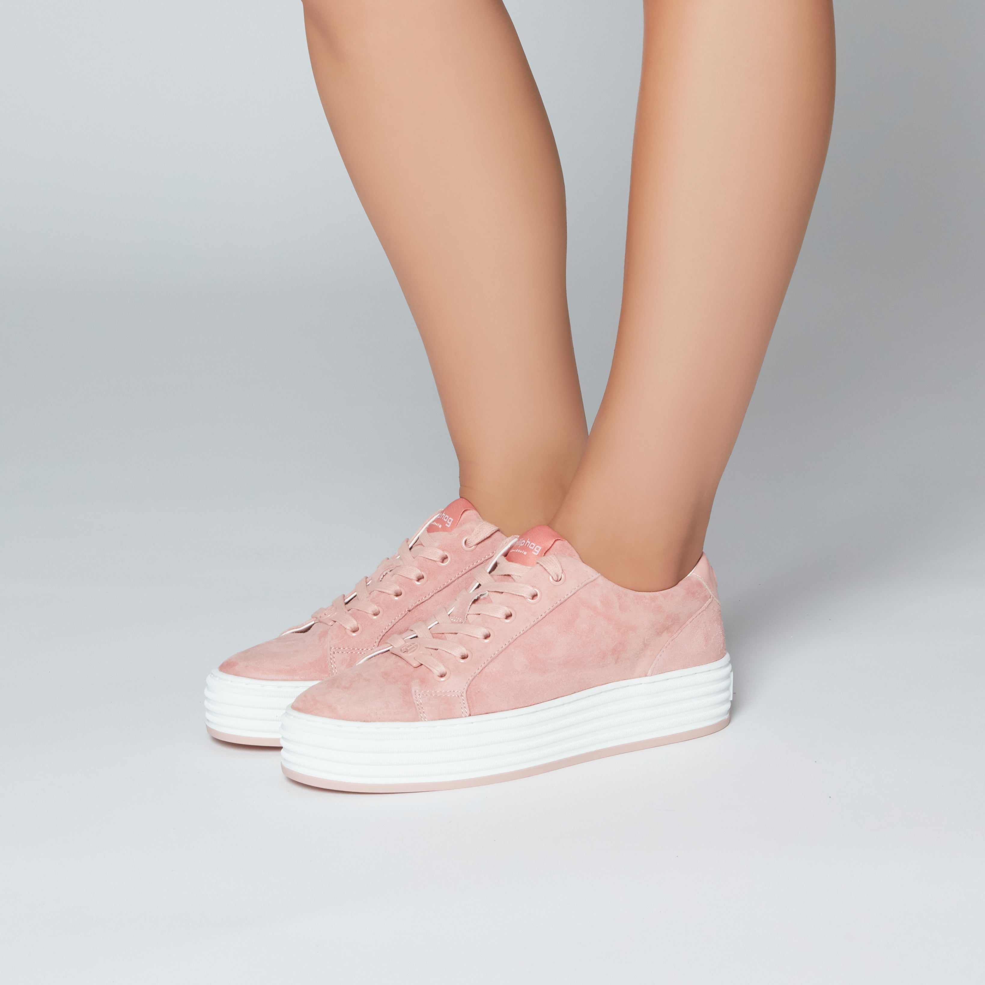 Phillip Hog Molly Suede Trainers for Ladies in Pink