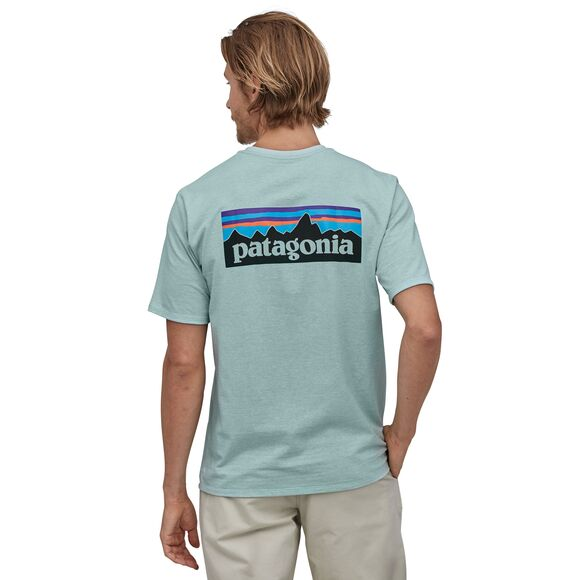 Patagonia P-6 Logo Responsibili-Tee for Men in Big Sky Blue
