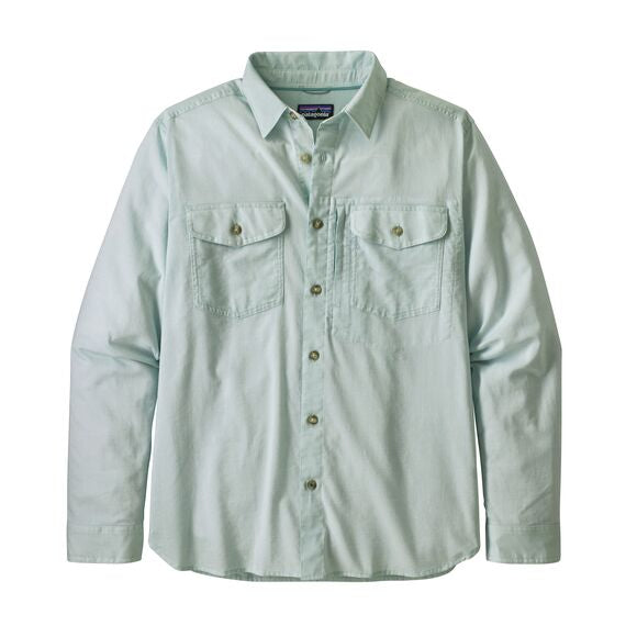 Patagonia Long-Sleeved Cayo Largo II Shirt for Men in Chambray: Gypsum Green