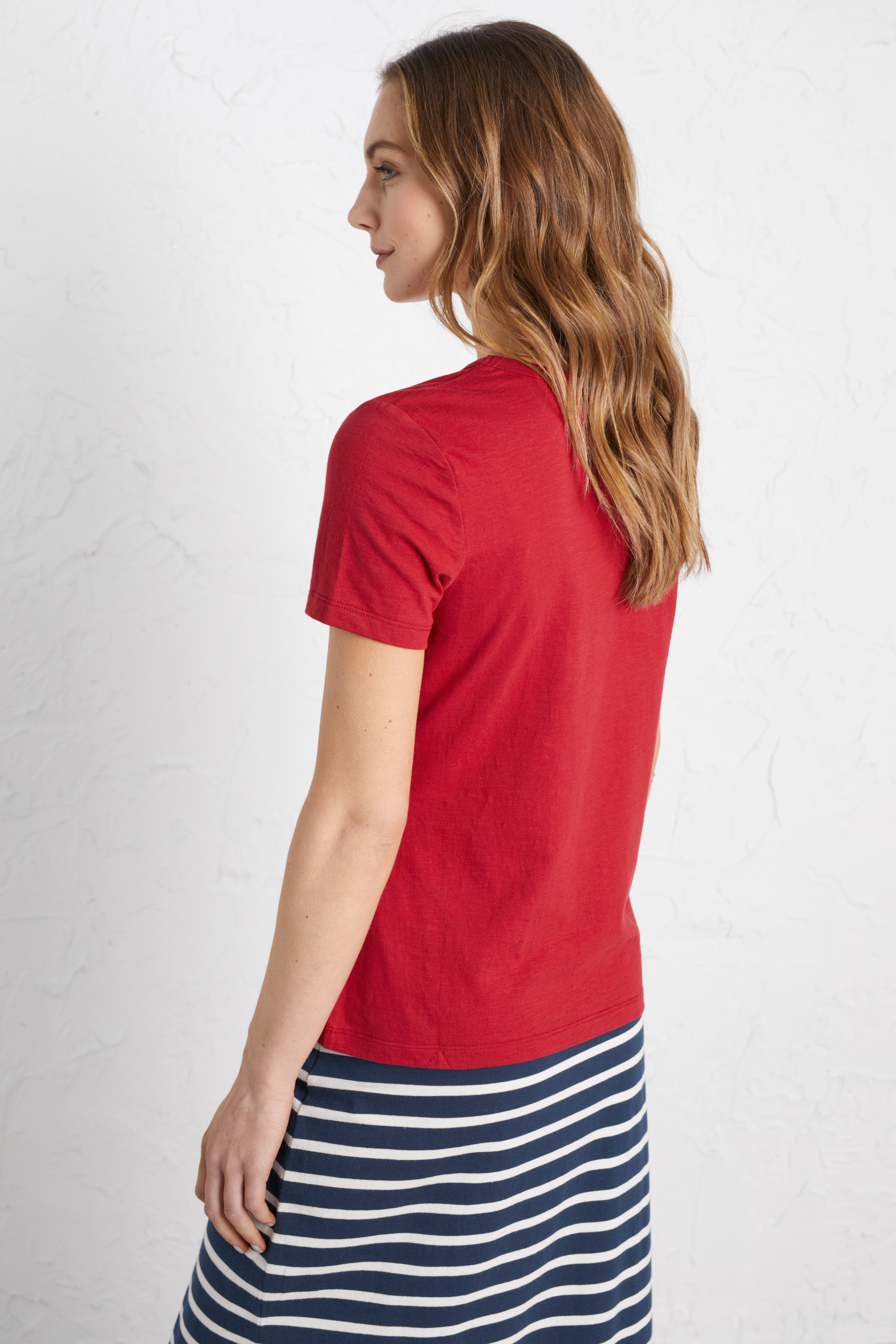 Seasalt Reflection T-Shirt for Ladies in Rudder