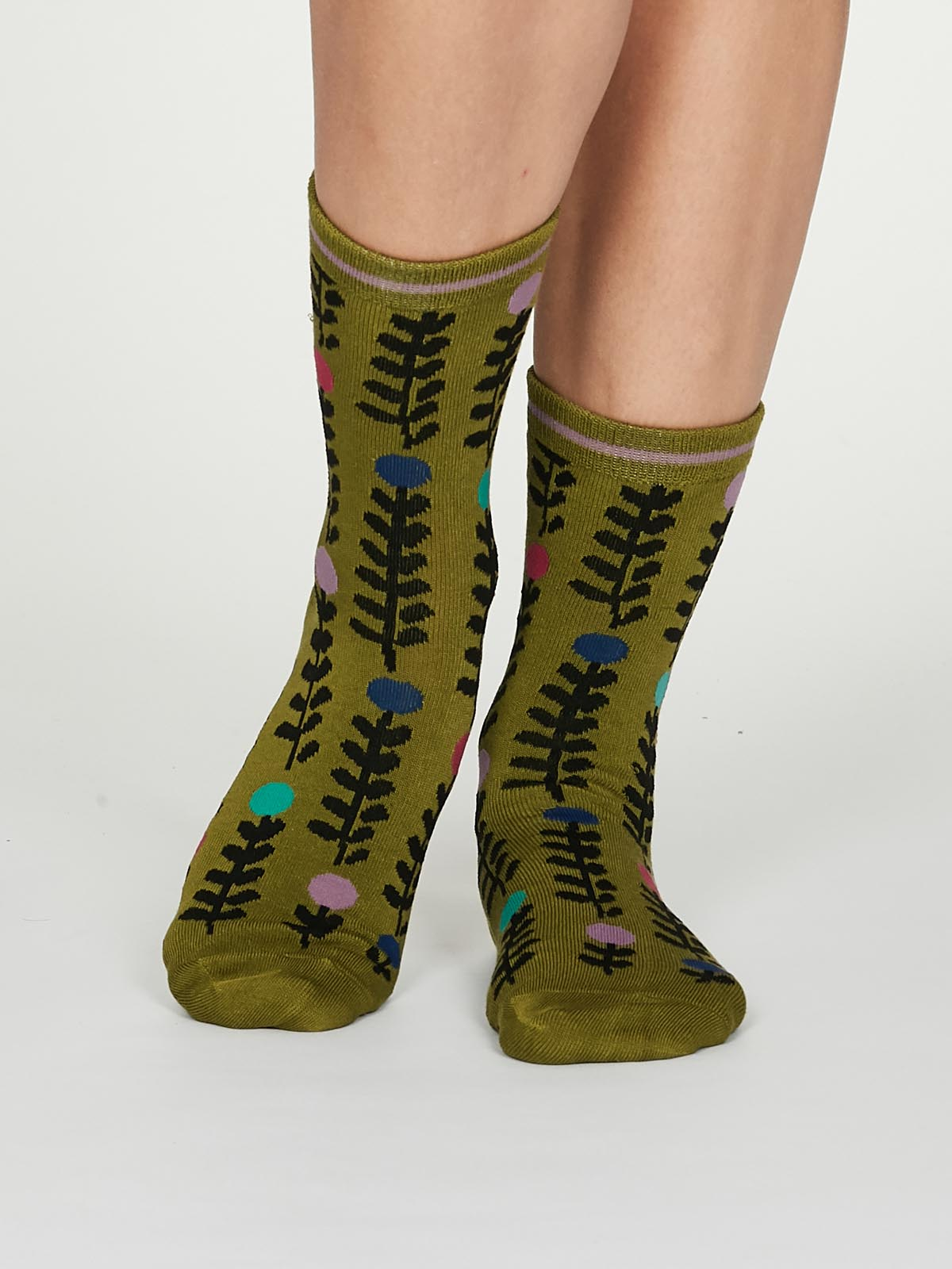 Thought Keira Socks for Ladies in Lichen