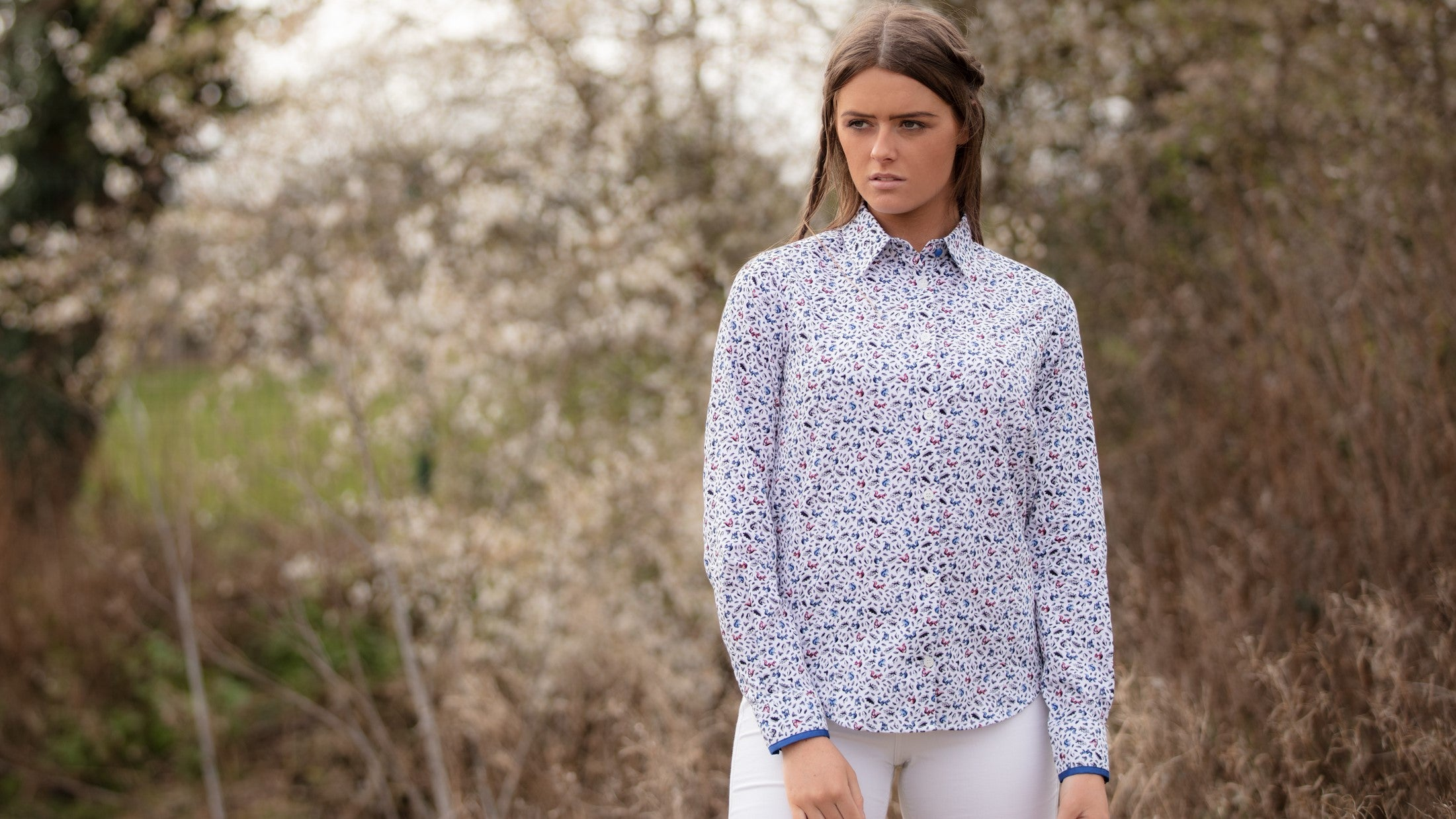 Hartwell Layla Blouse for Ladies in Squirrels