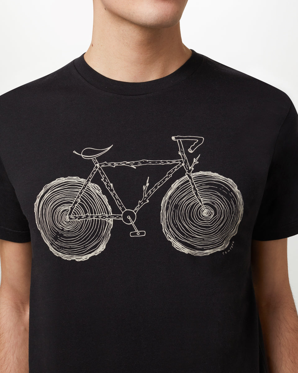 Tentree Elm Cotton Classic T-Shirt for Men in Solid Black