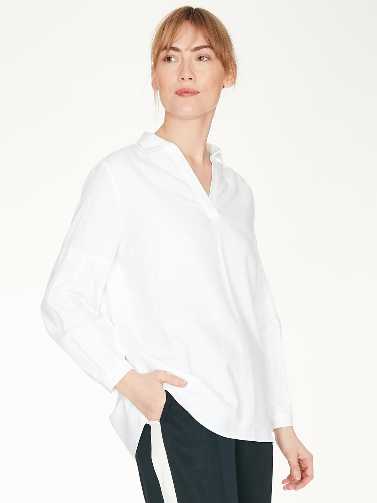 Thought Marion Organic Cotton Over The Head Shirt for Ladies in White