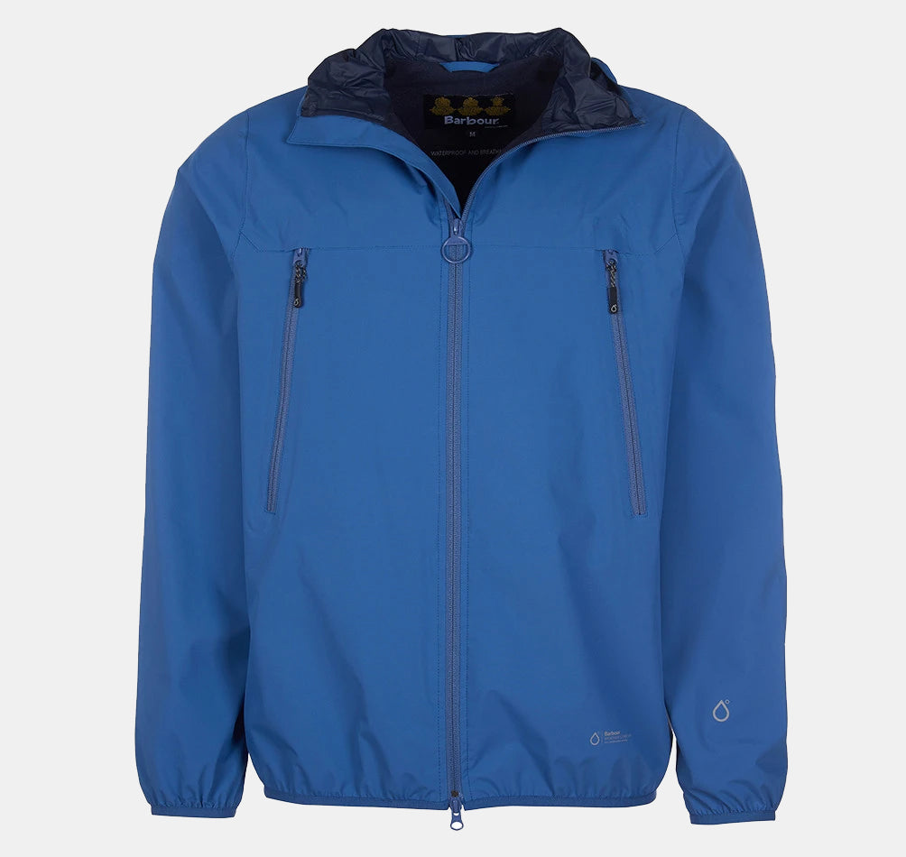 Barbour Tinmouth Waterproof Jacket for Men in Loch Blue