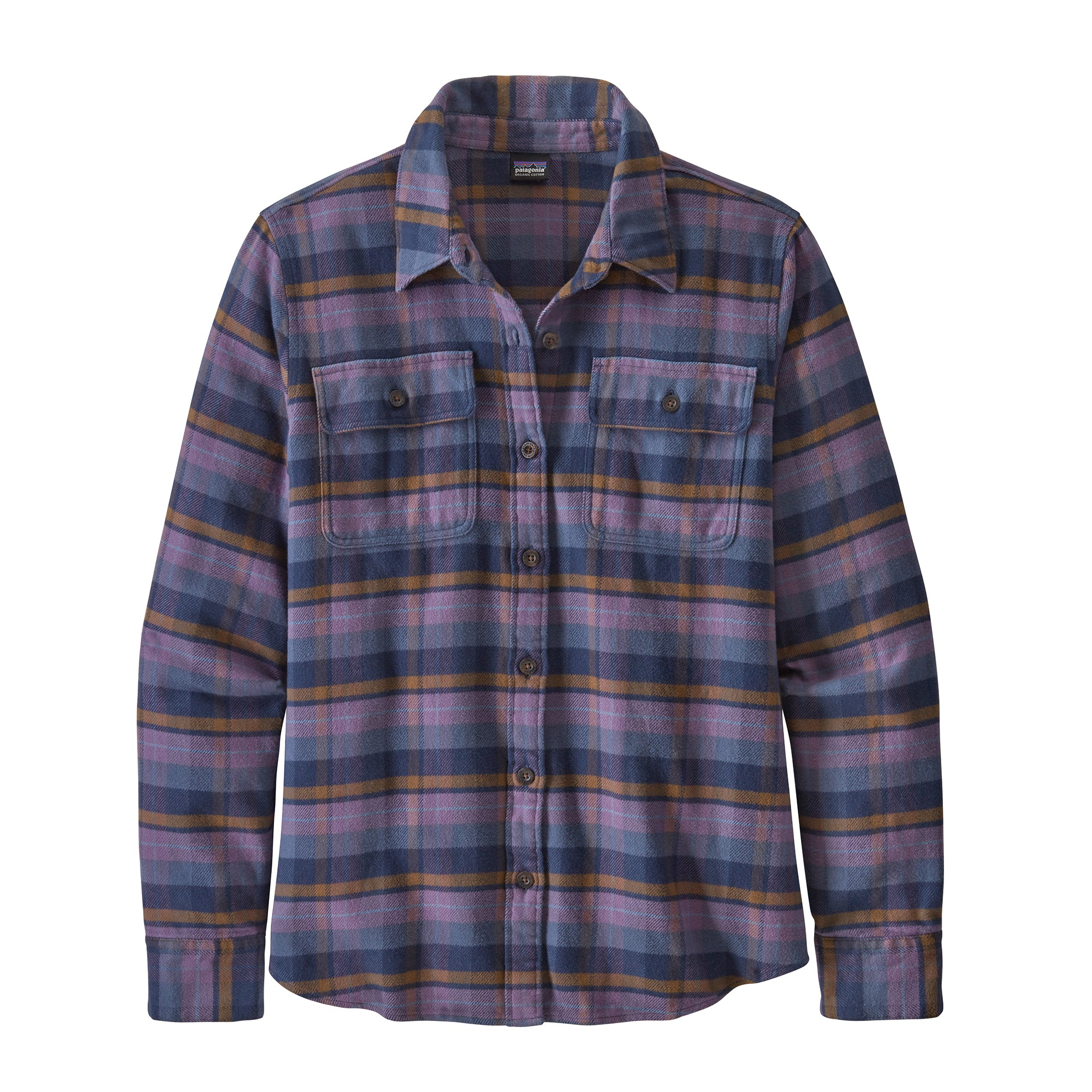 Patagonia L/S Fjord Flannel Shirt for Ladies in Pistil: Hyssop Purple