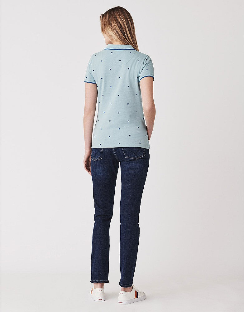 Crew Clothing Revamped Classic Polo Top for Ladies in Bluebird