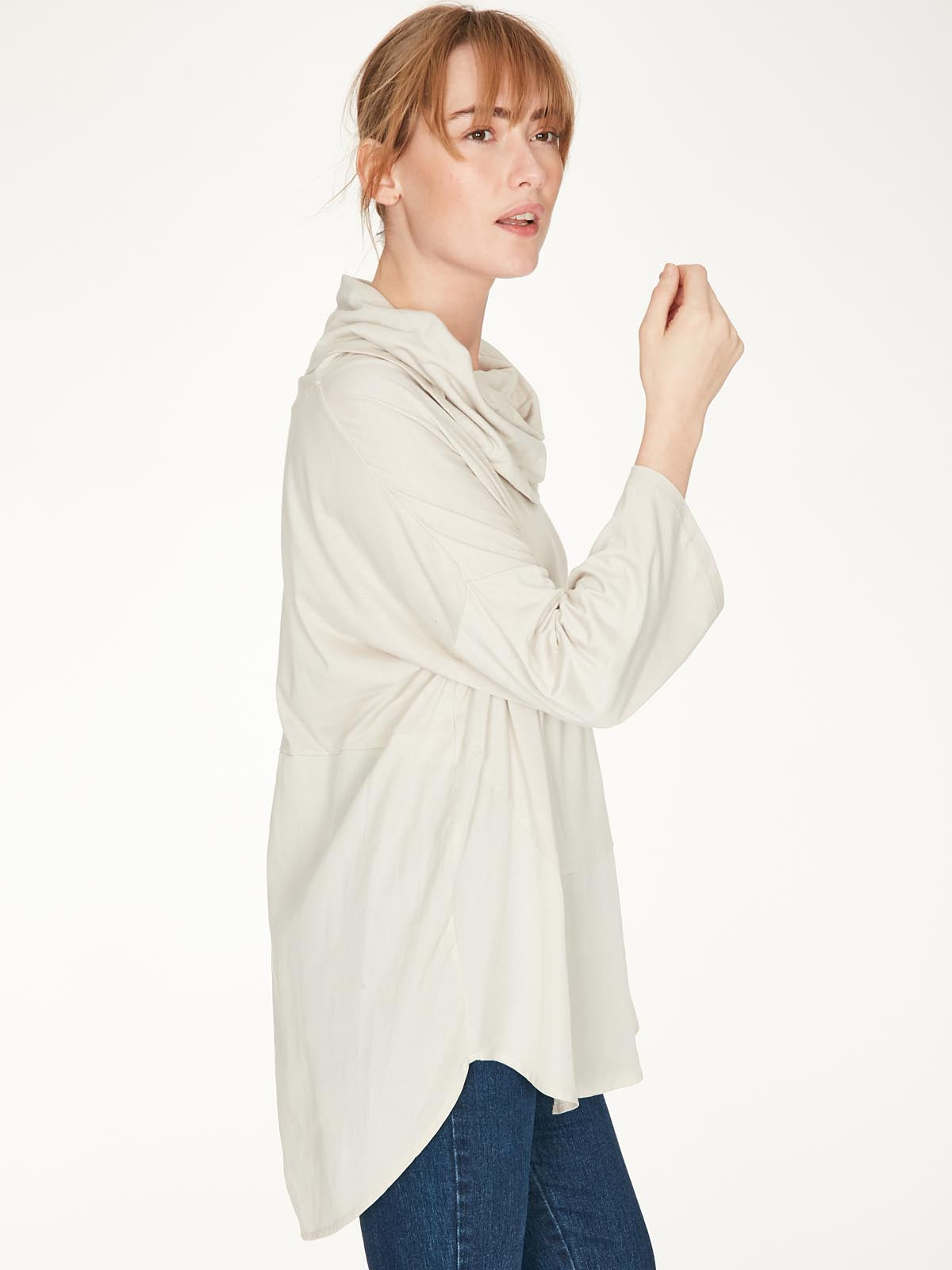 Thought Carole Top for Ladies in Birch Grey