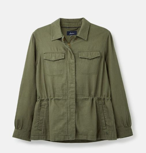 Joules Alexandra Shacket for Ladies in Soft Khaki
