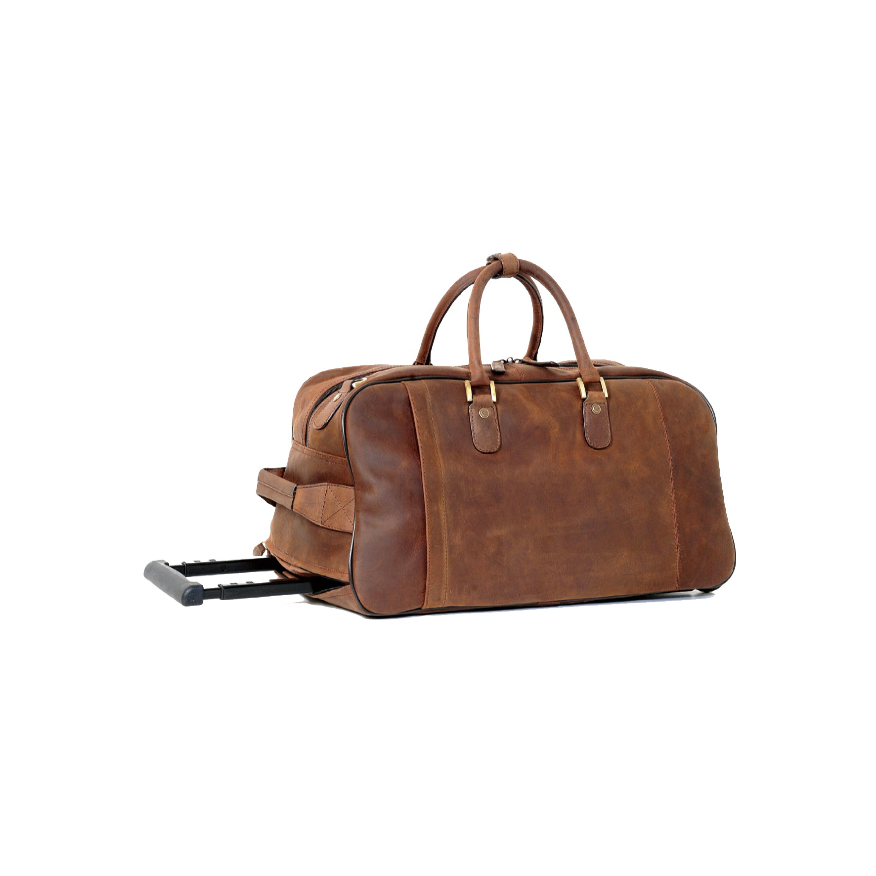 Ashwood Albert Wheeled Travel Holdall in Mud