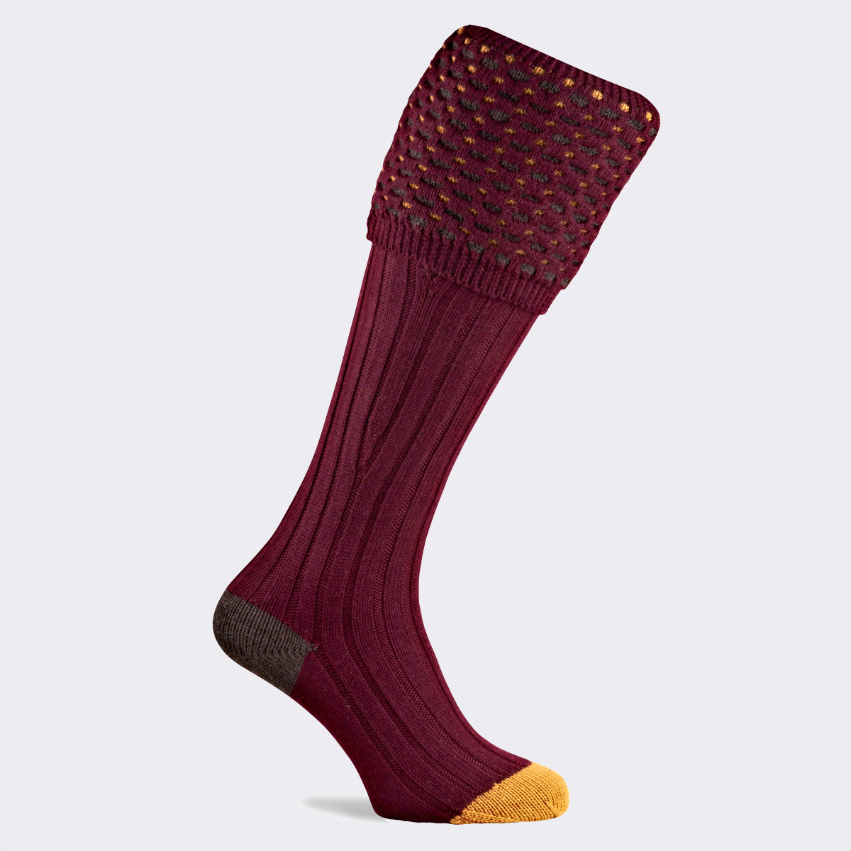 Pennine Ambassador Shooting Sock in Burgundy