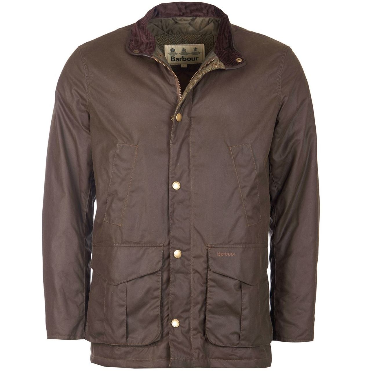 Barbour Hereford Wax Jacket for Men in Peat