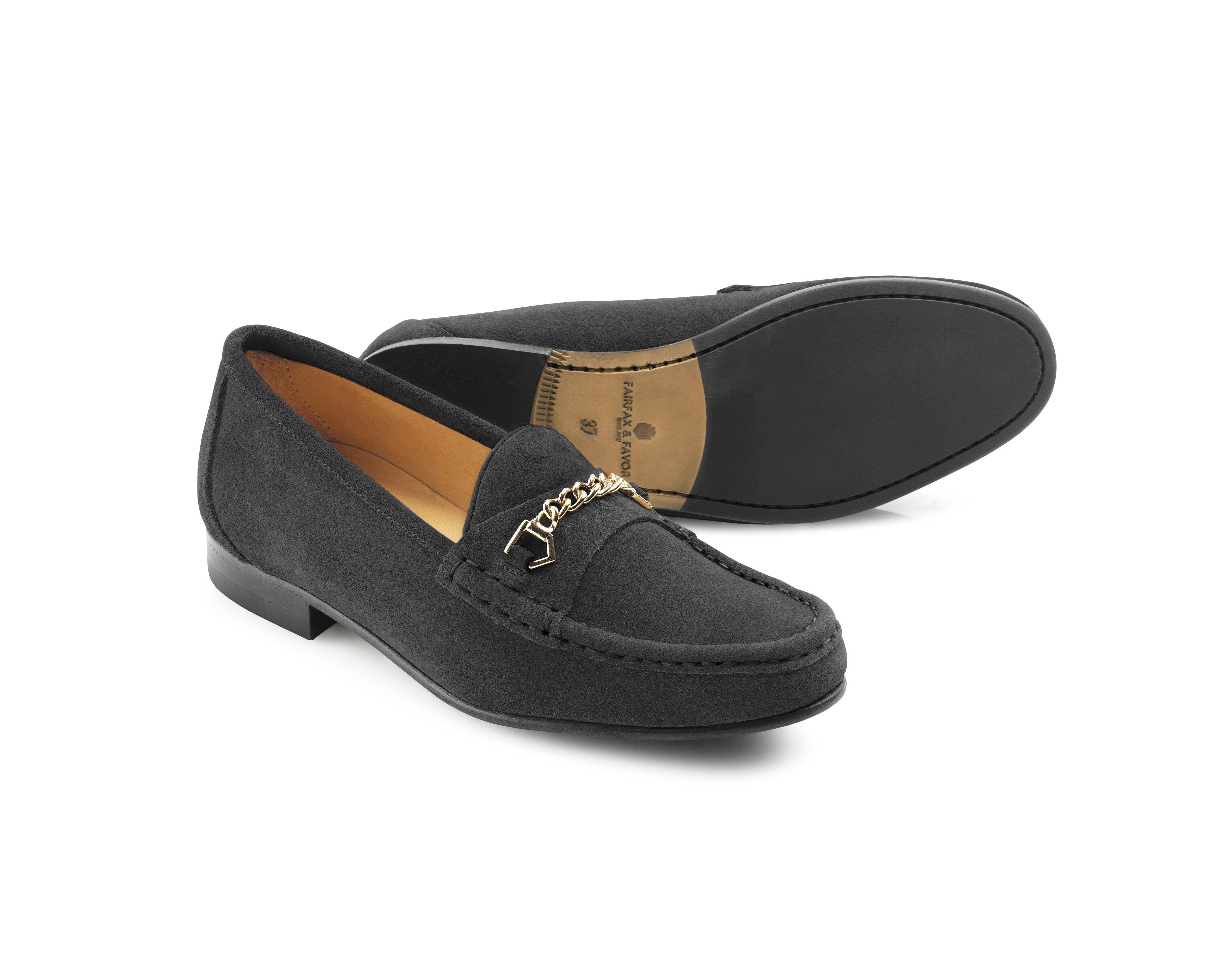 Fairfax and Favor Apsley Suede Shoes for Ladies in Grey