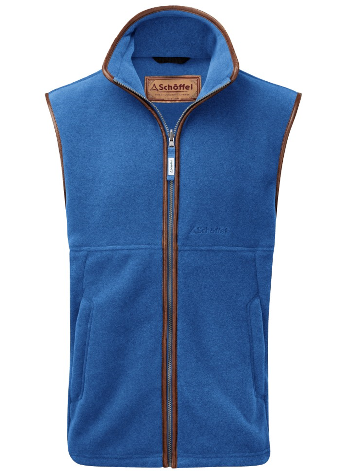 Schoffel Oakham Fleece Gilet for Men in Cobalt Blue