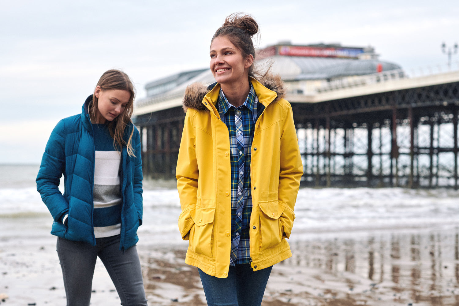 Barbour Abalone Waterproof Jacket for Ladies in Yellow