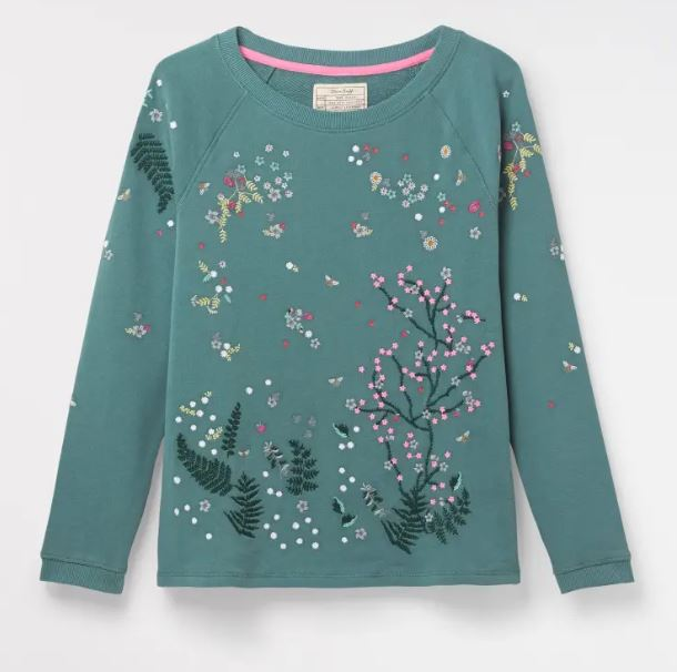 White Stuff Be My Favourite Sweater in Sea Foam Green