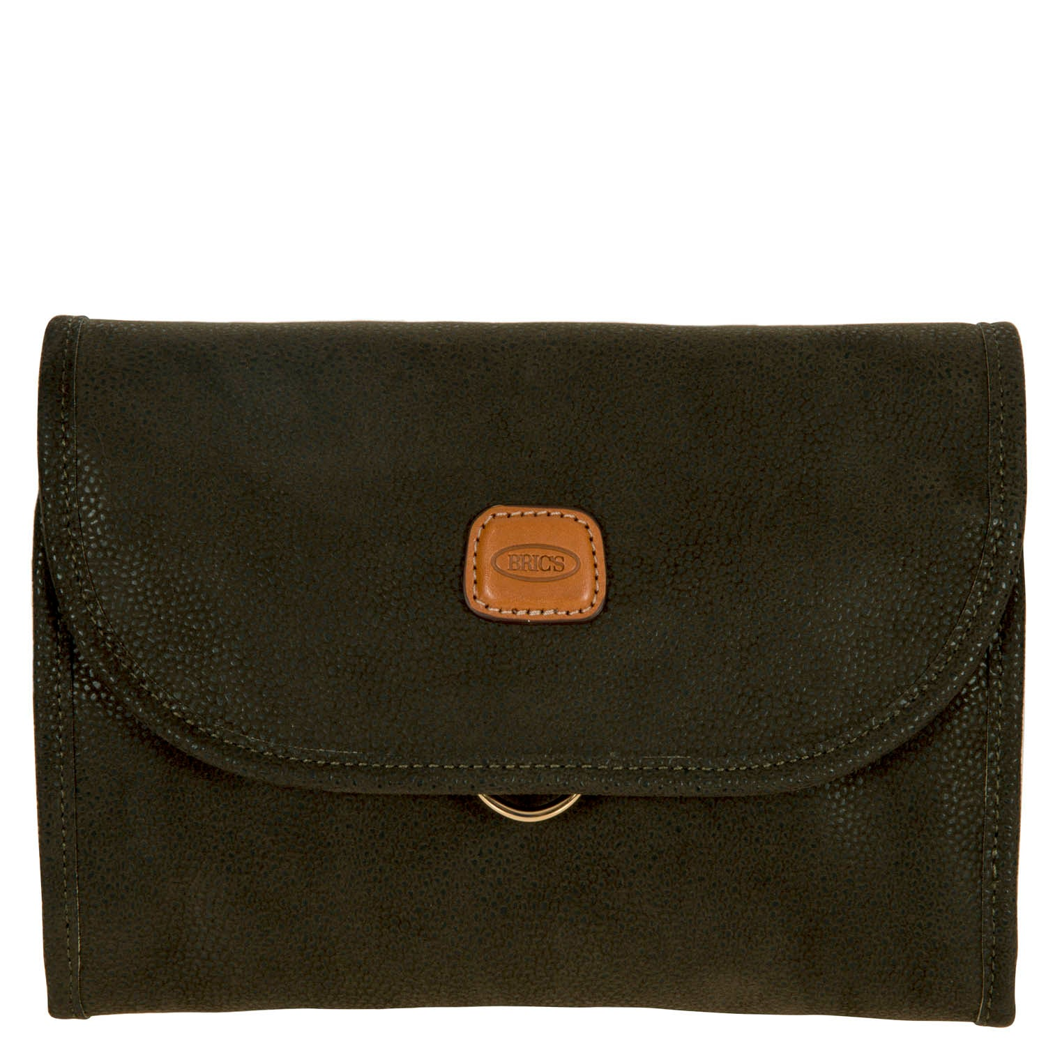 Brics Medium Hanging Washbag in Olive