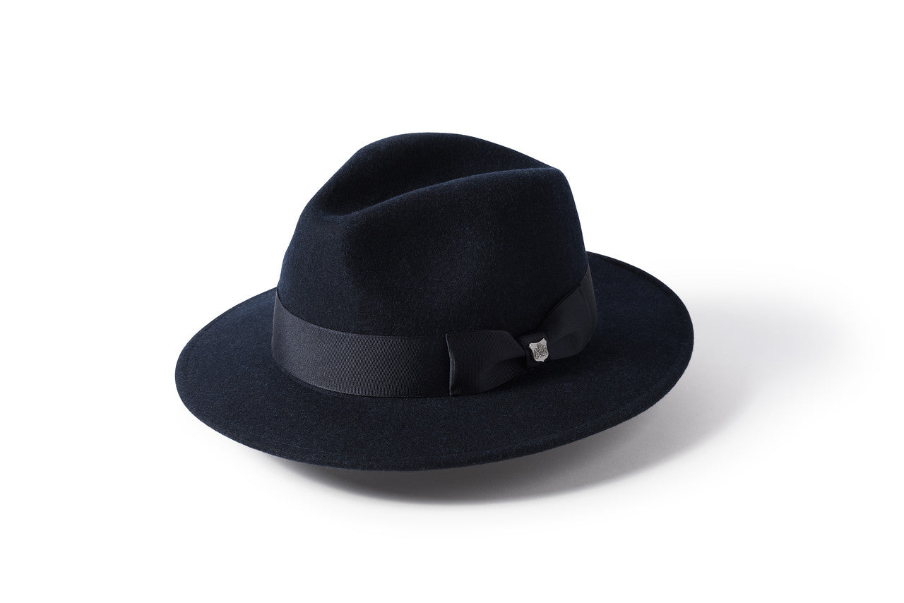Failsworth Boston Brimmed Hat for Men in Navy Blue