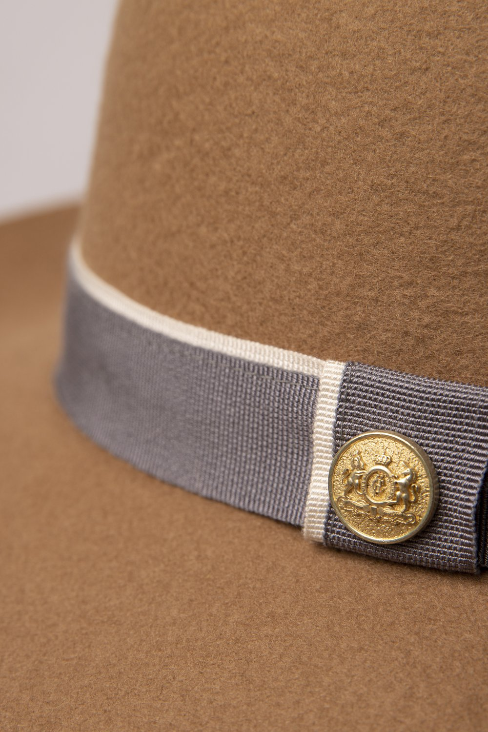 Holland Cooper Trilby Grayson Hat for Ladies in Camel/Grey