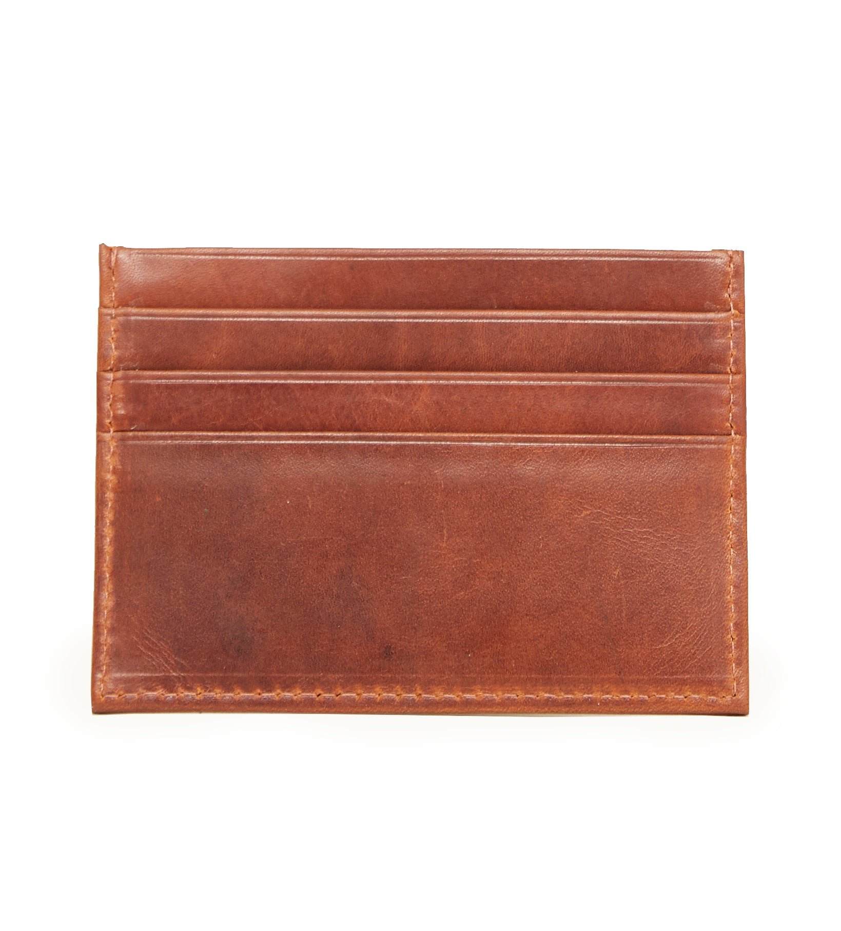 Hicks and Hides Leather Card Holder in Cognac