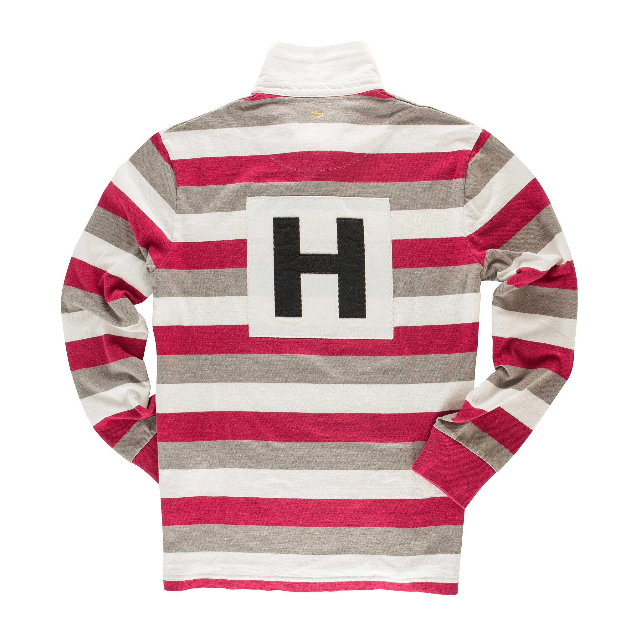 Black & Blue Clapham Rovers Rugby Shirt for Men in Cerise/ French Grey/ White