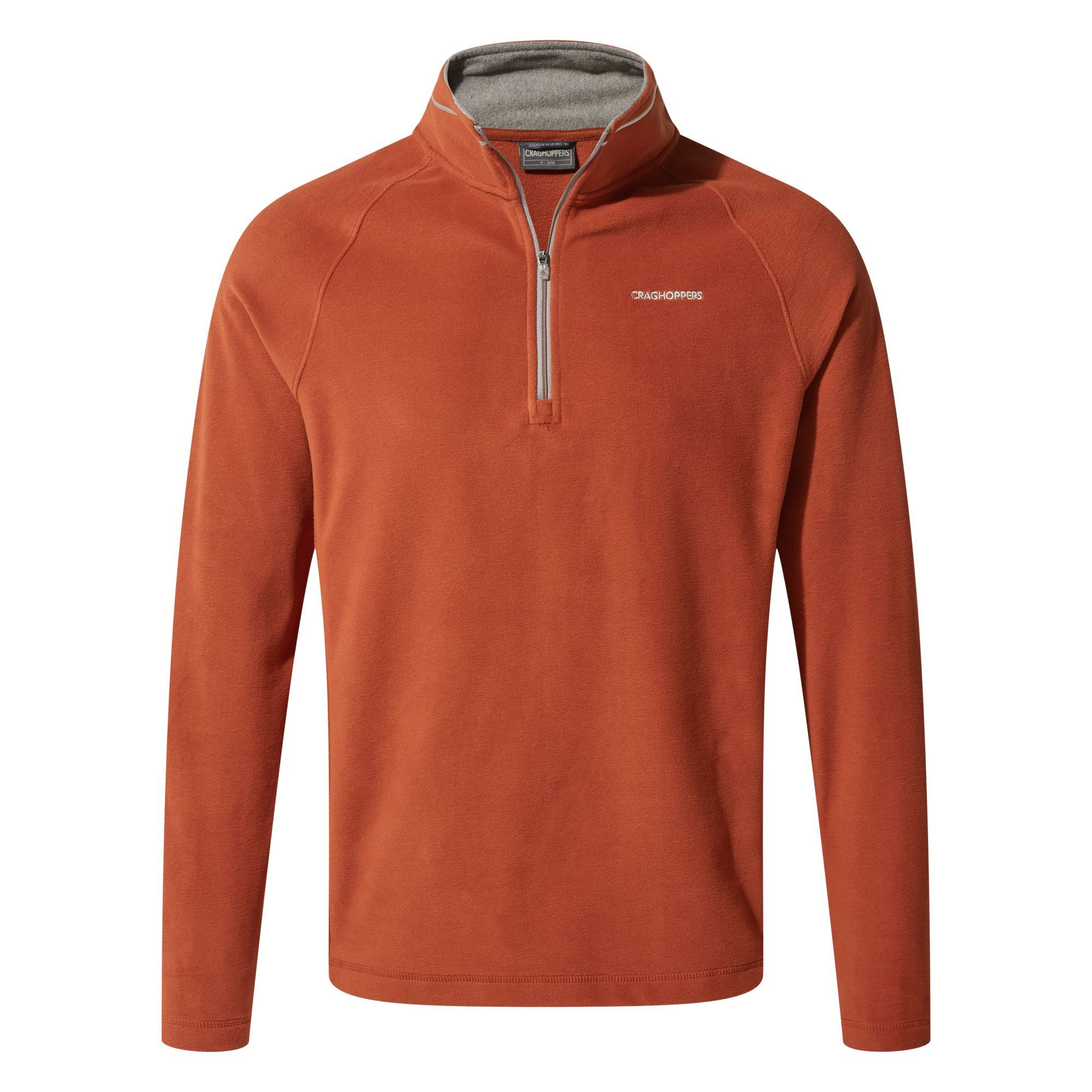 Craghoppers Corey Half Zip Fleece for Men in Burnt Orange