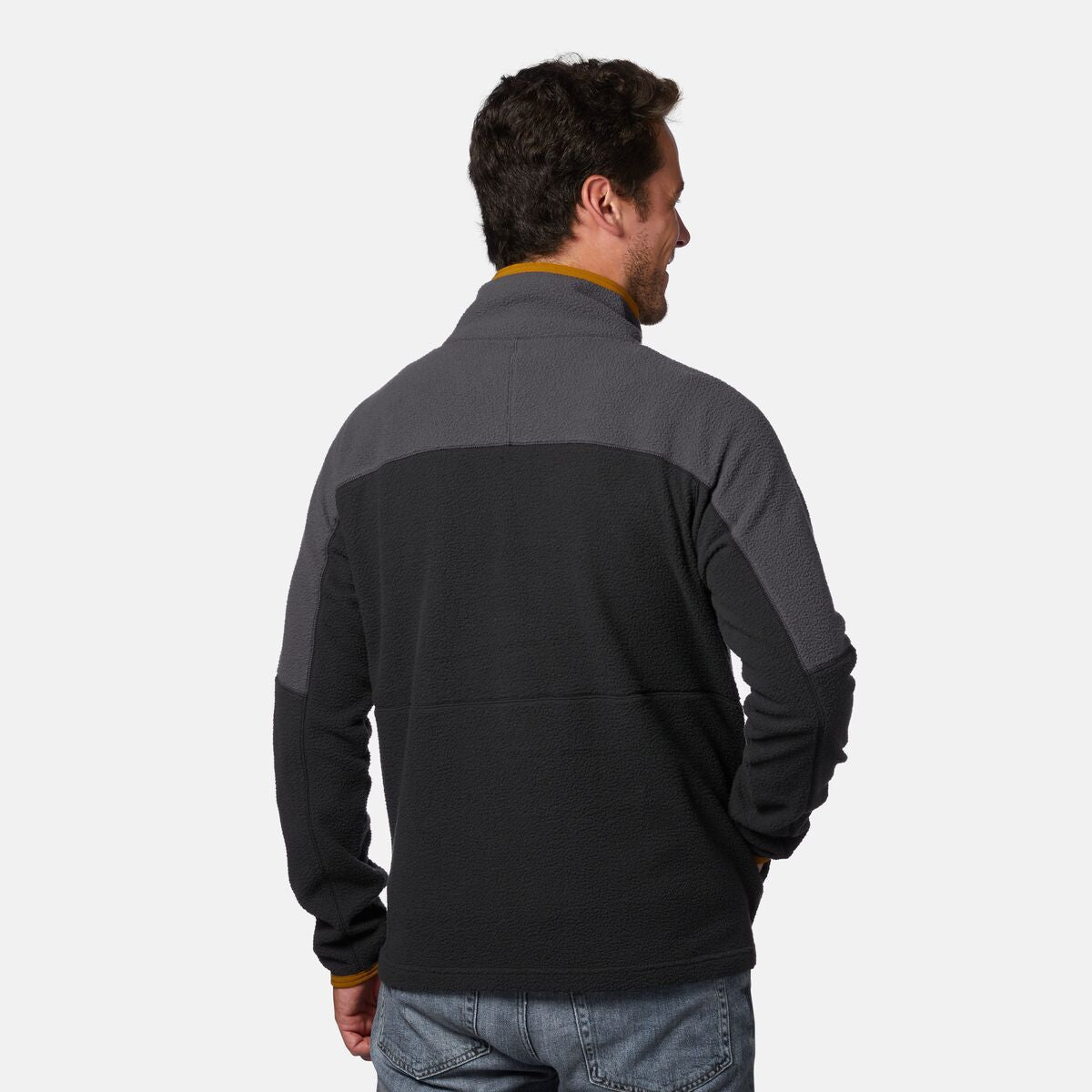 Cotopaxi Dorado Half-Zip Fleece Jacket for Men in Graphite/Black