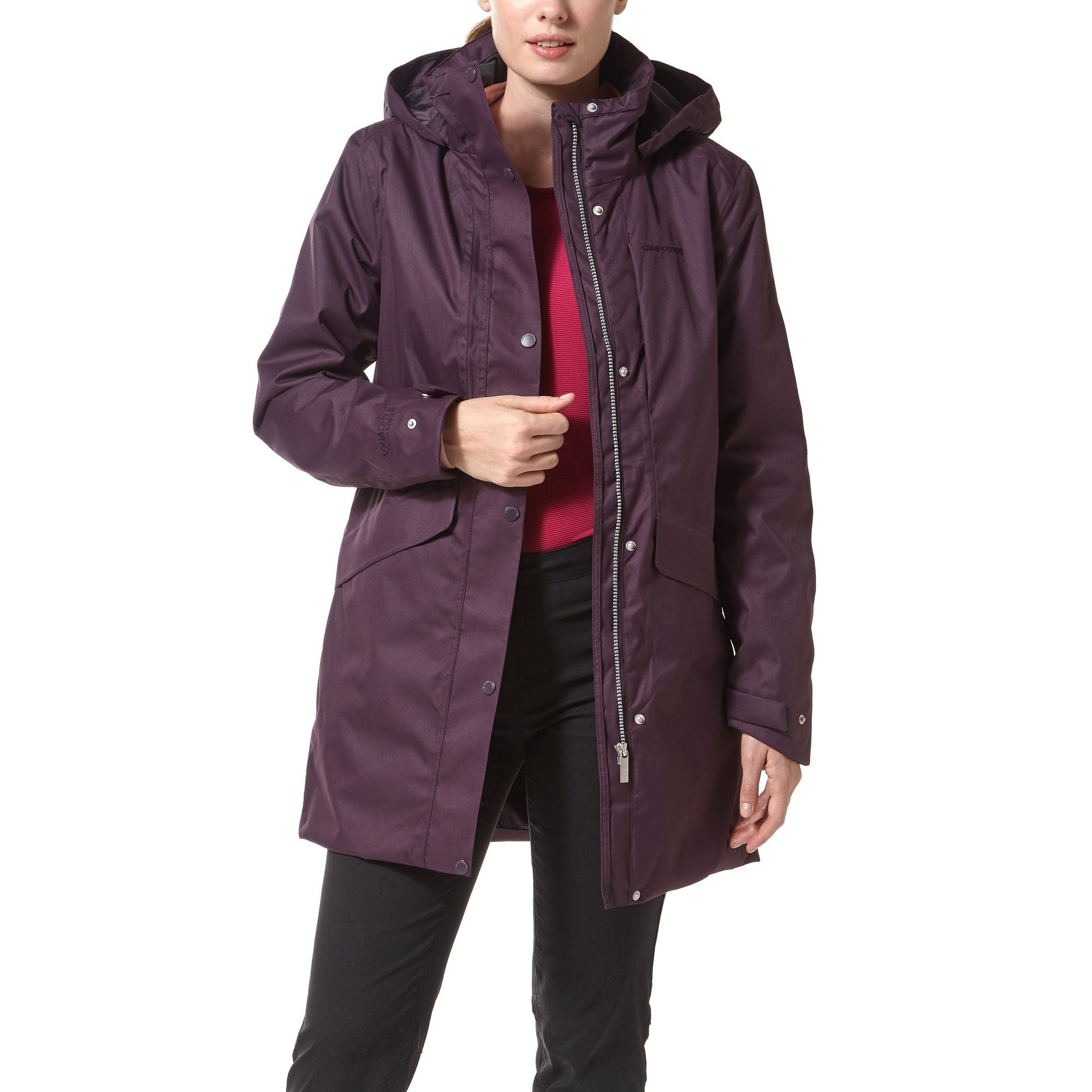 Craghoppers Aird 3 in 1 Waterproof Jacket for Ladies in Thistle
