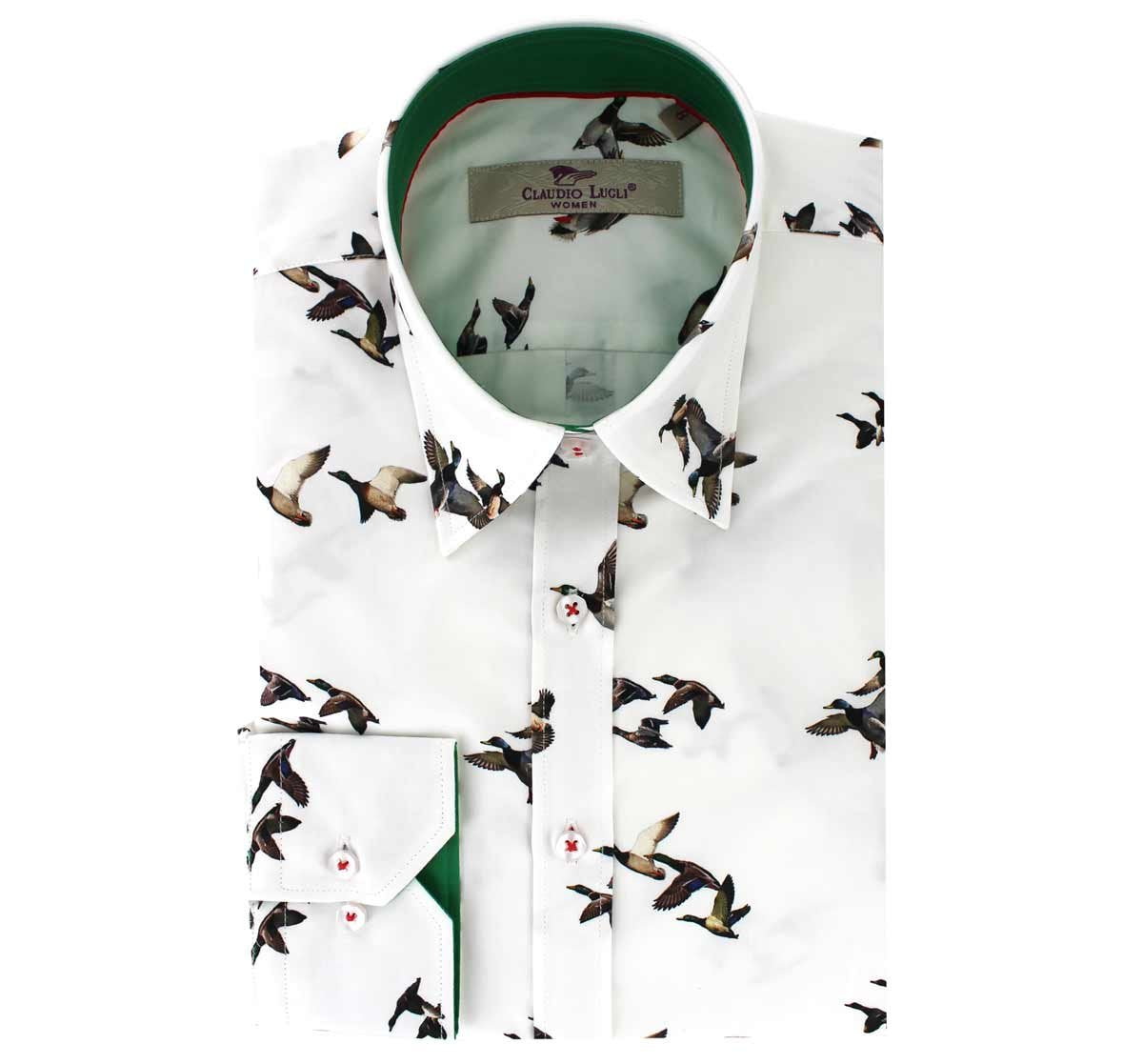Claudio Lugli Anne Shirt for Ladies in Flying Duck Print