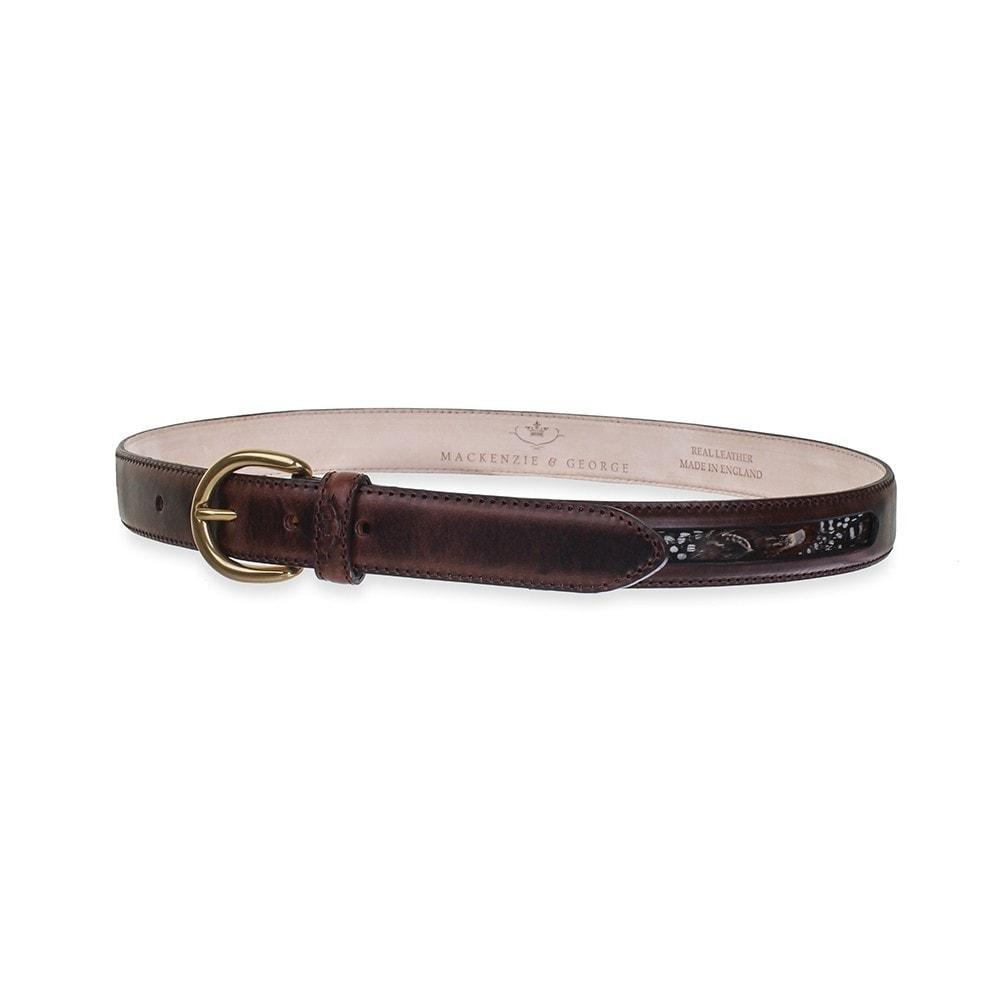 Mackenzie and George Drayton Feather Belt in Chocolate