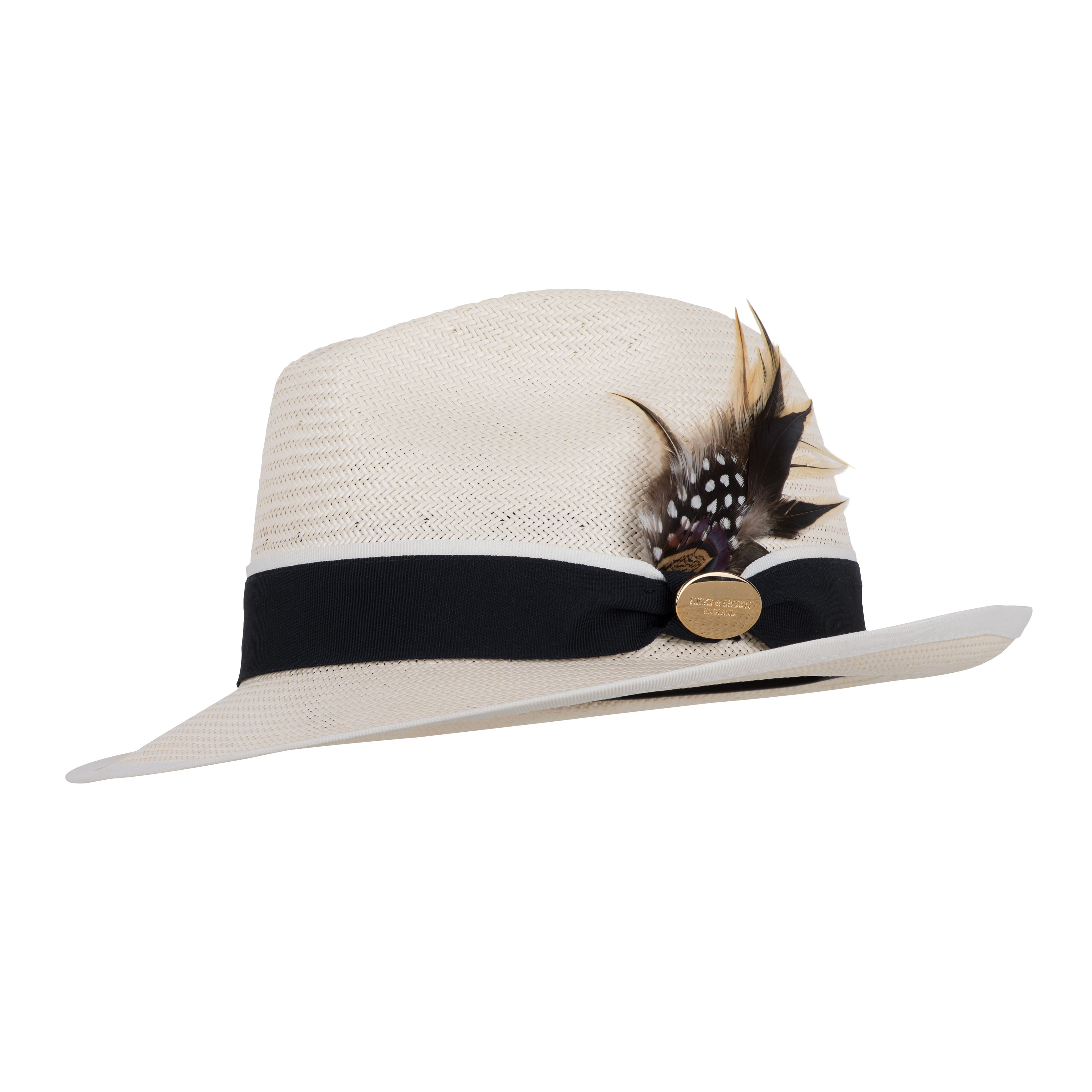 Hicks and Brown Holkham Fedora Summer Hat in Natural