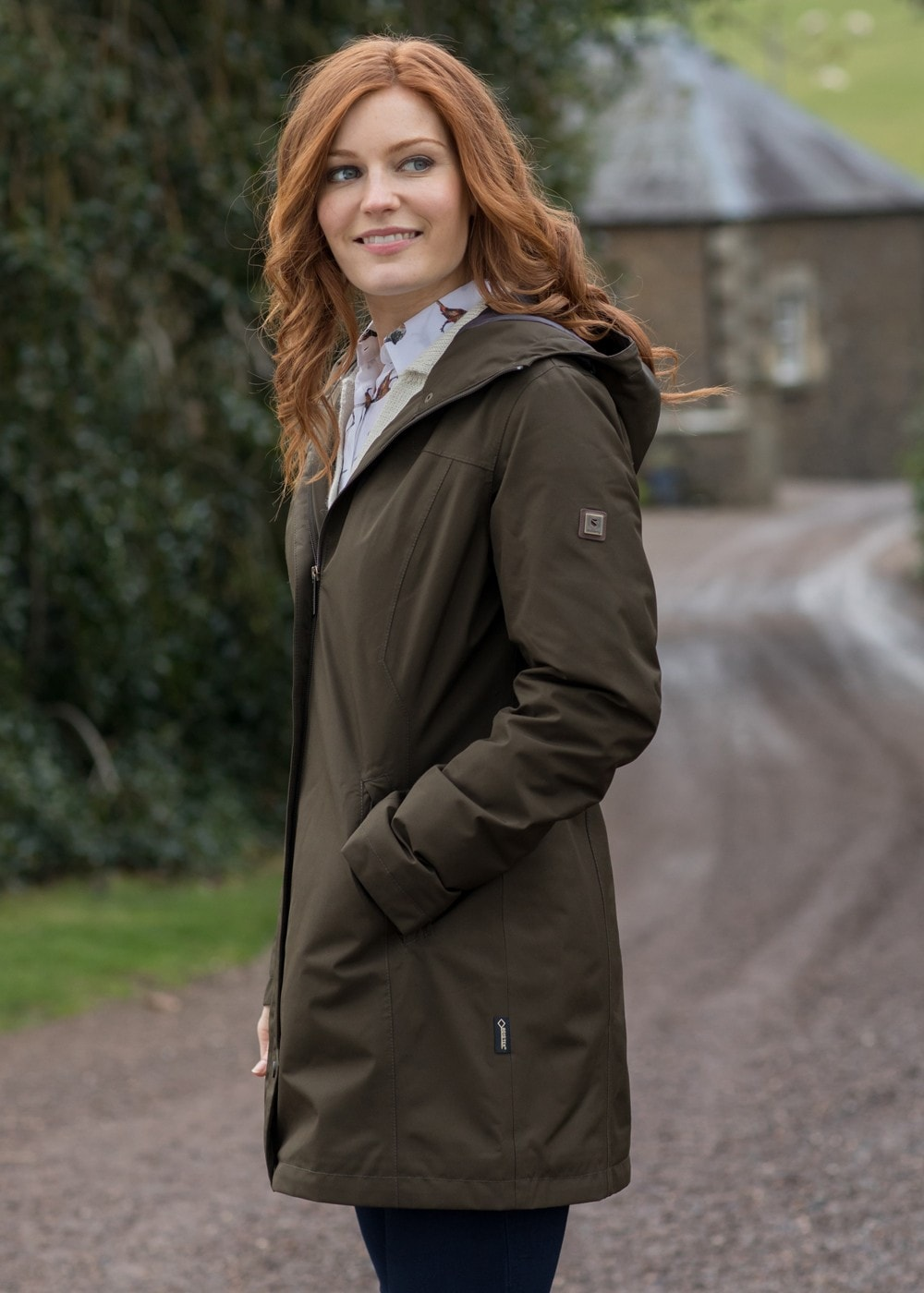 Dubarry Bunratty Waterproof Coat for Ladies in Olive