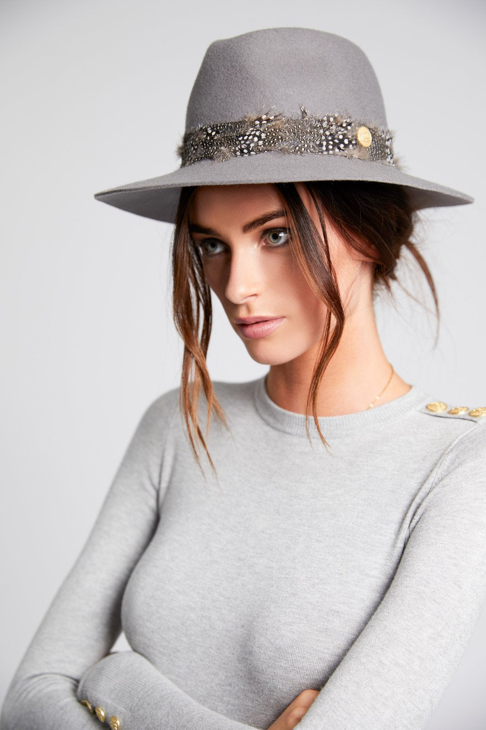 Holland Cooper Trilby Grayson Hat for Ladies in Grey