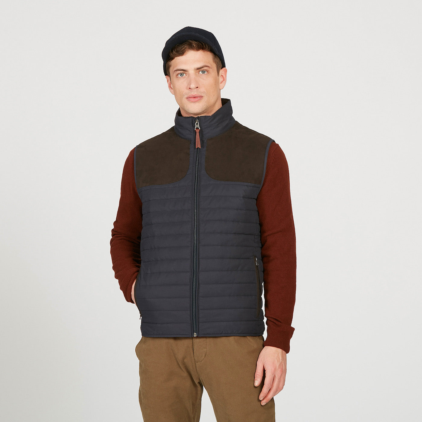 Aigle Crochy Gilet for Men in Navy