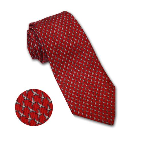 Wingfield Digby Flying Duck Tie for Men in Red